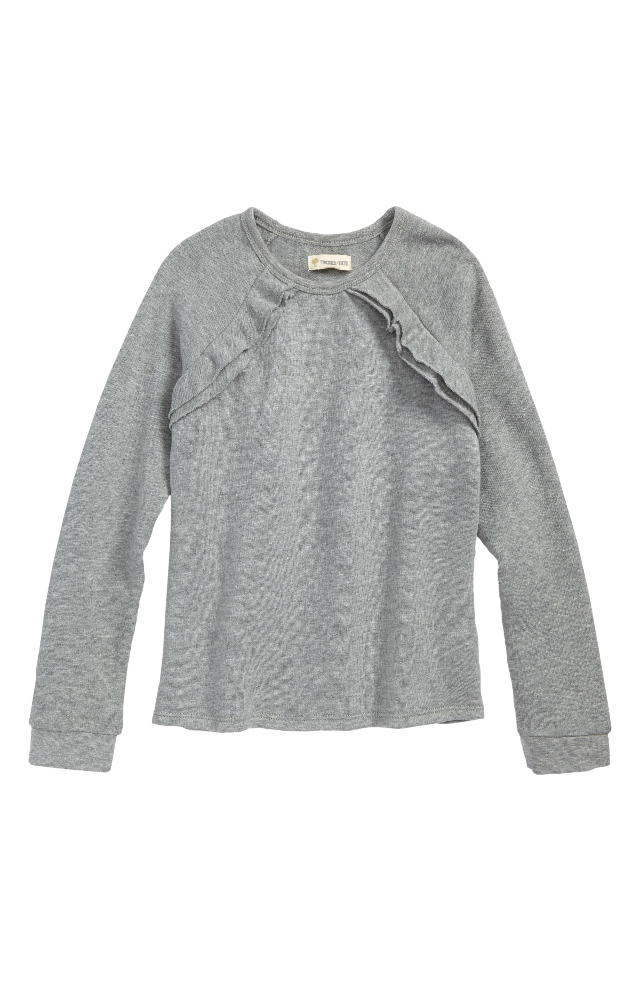Tucker + Tate Ruffle Fleece Sweatshirt (Toddler Girls, Little Girls & Big Girls)
