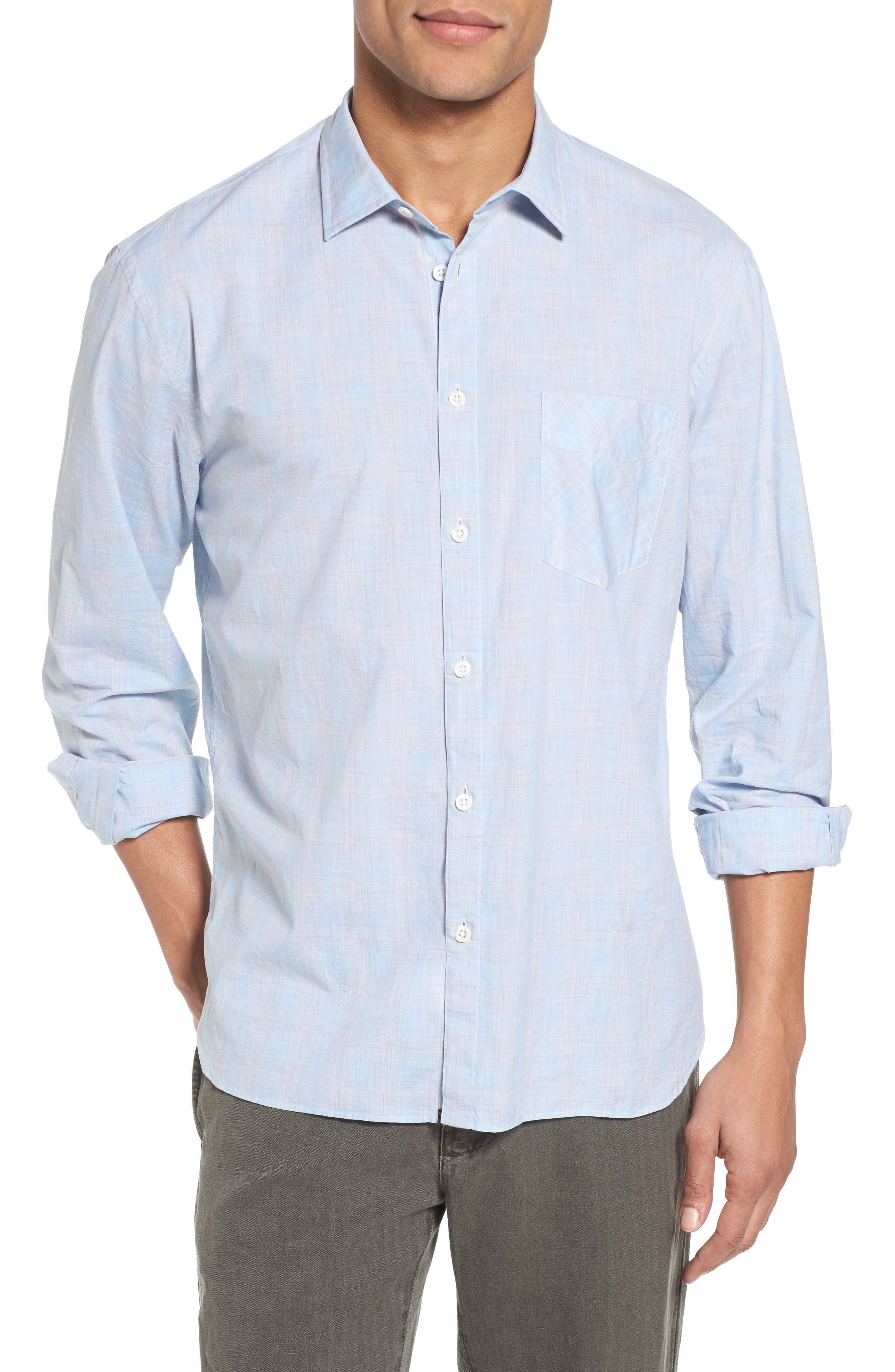 John T Slim Fit Sport Shirt,                         Main,                         color, Light Blue