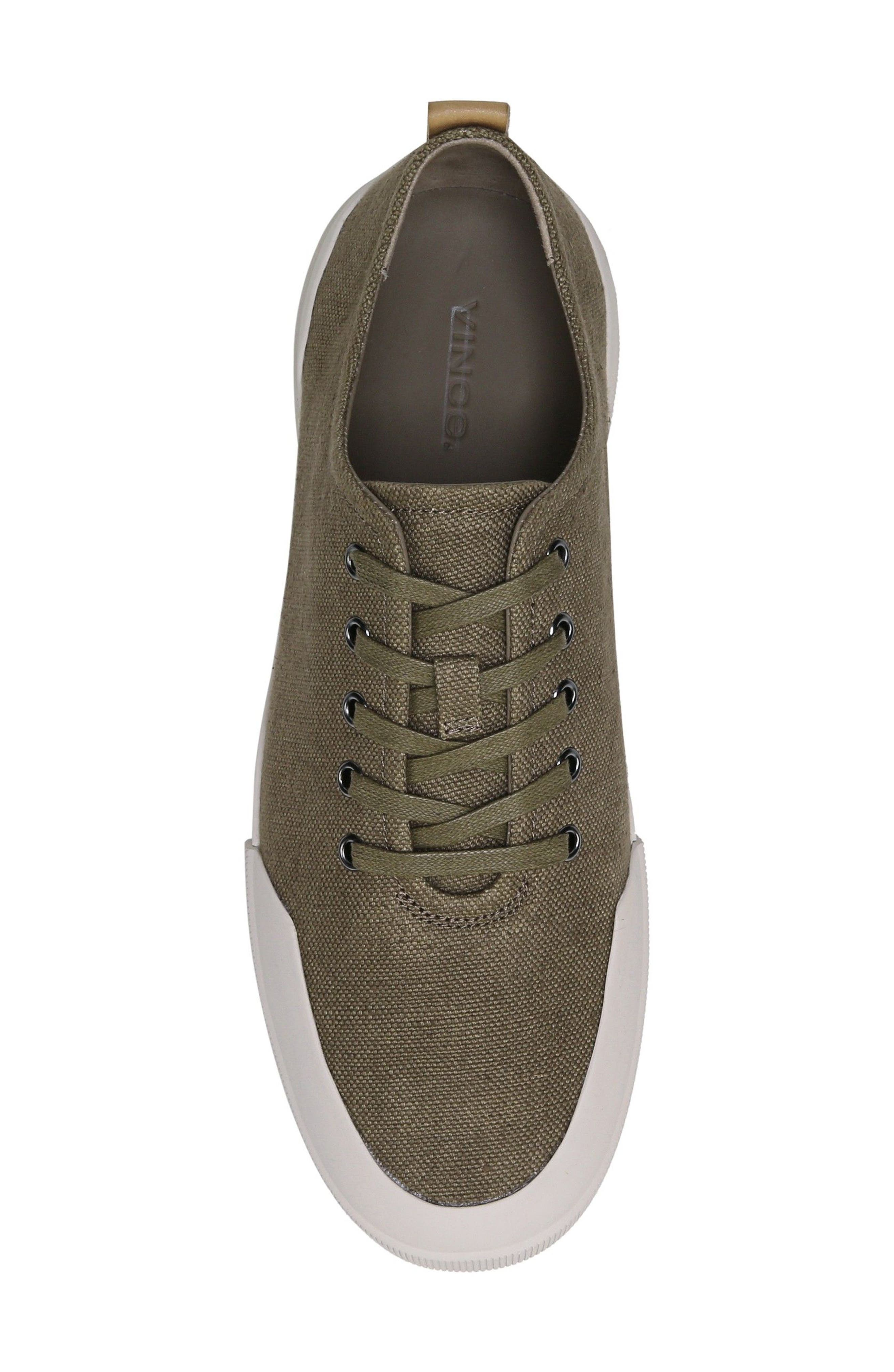 Victor Low Top Sneaker,                             Alternate thumbnail 5, color,                             Flint/ Cuoio