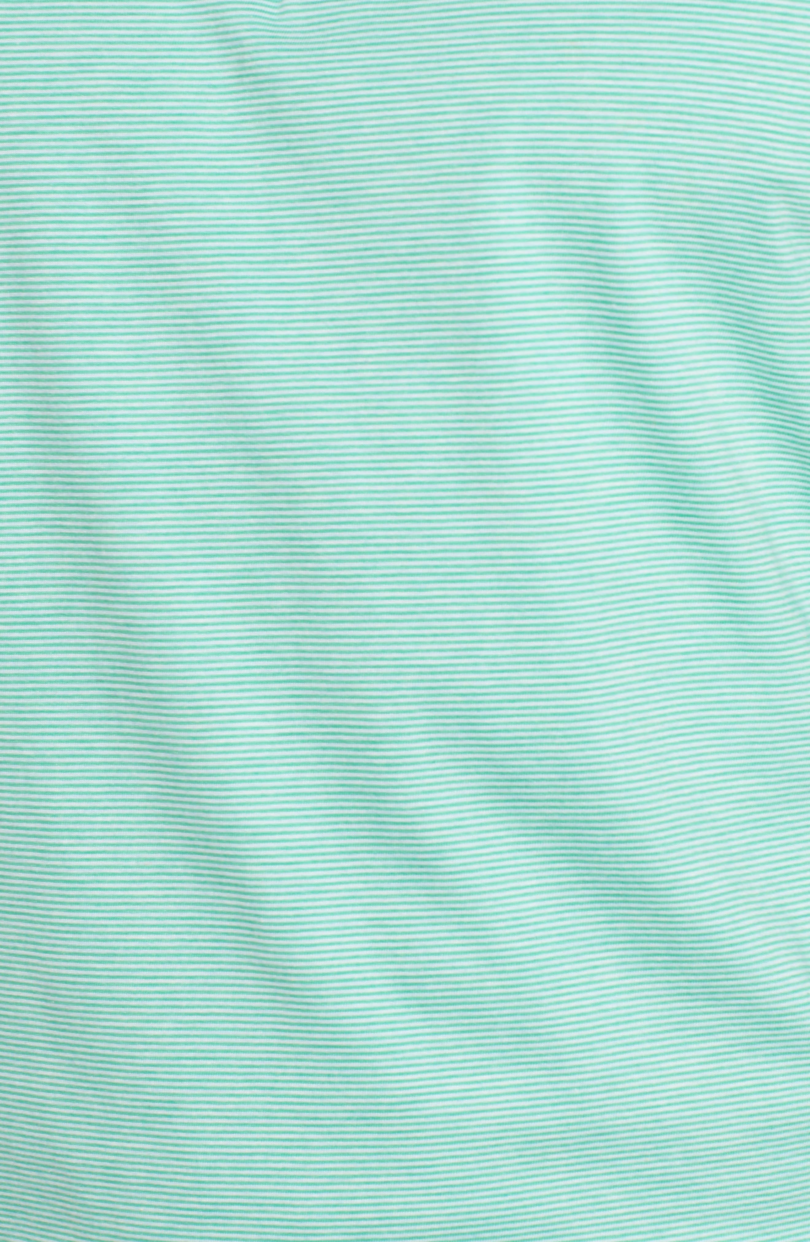 Crown Stripe Polo,                             Alternate thumbnail 5, color,                             Scuba