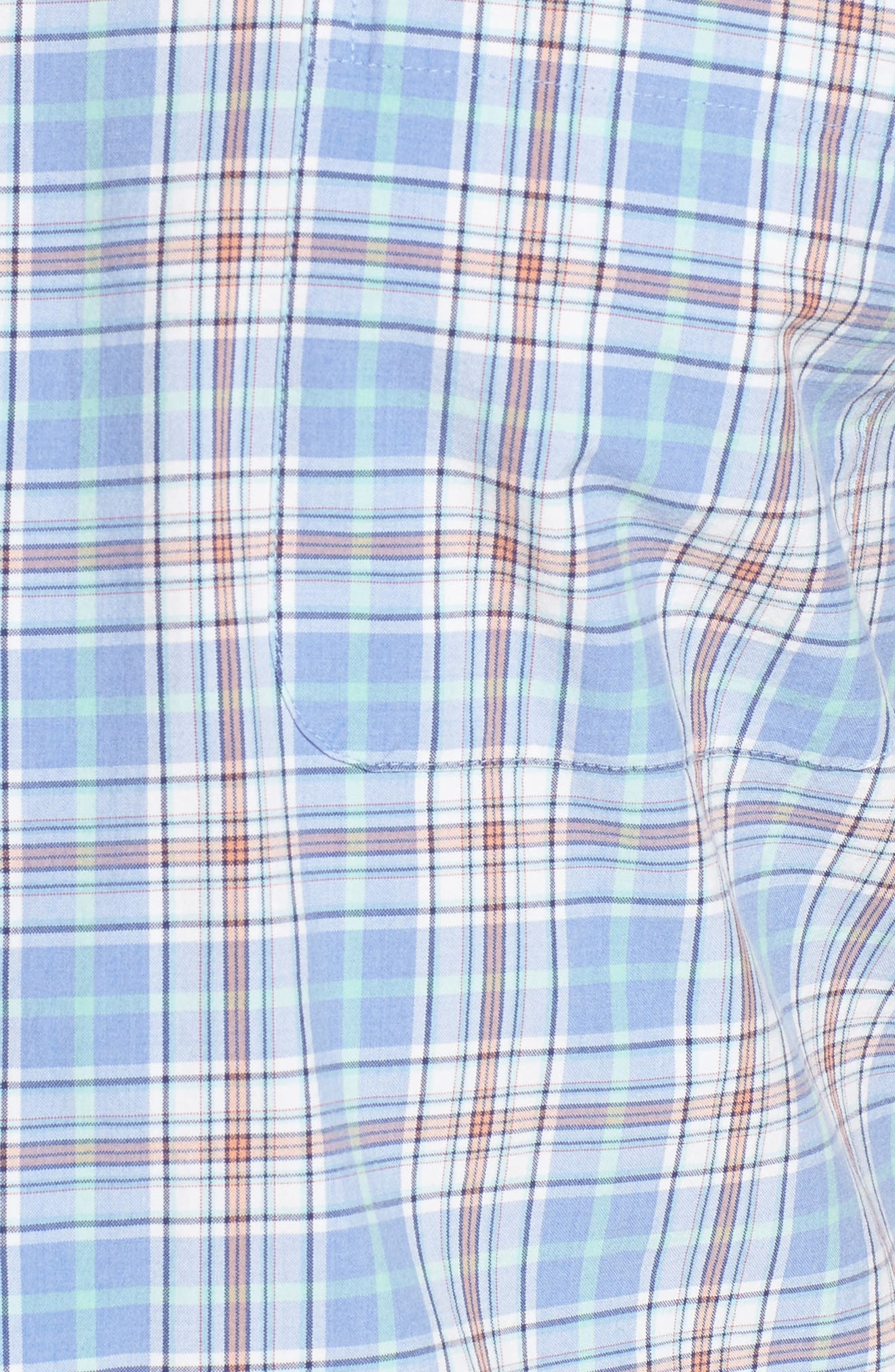 Rockport Plaid Sport Shirt,                             Alternate thumbnail 5, color,                             Bonnet