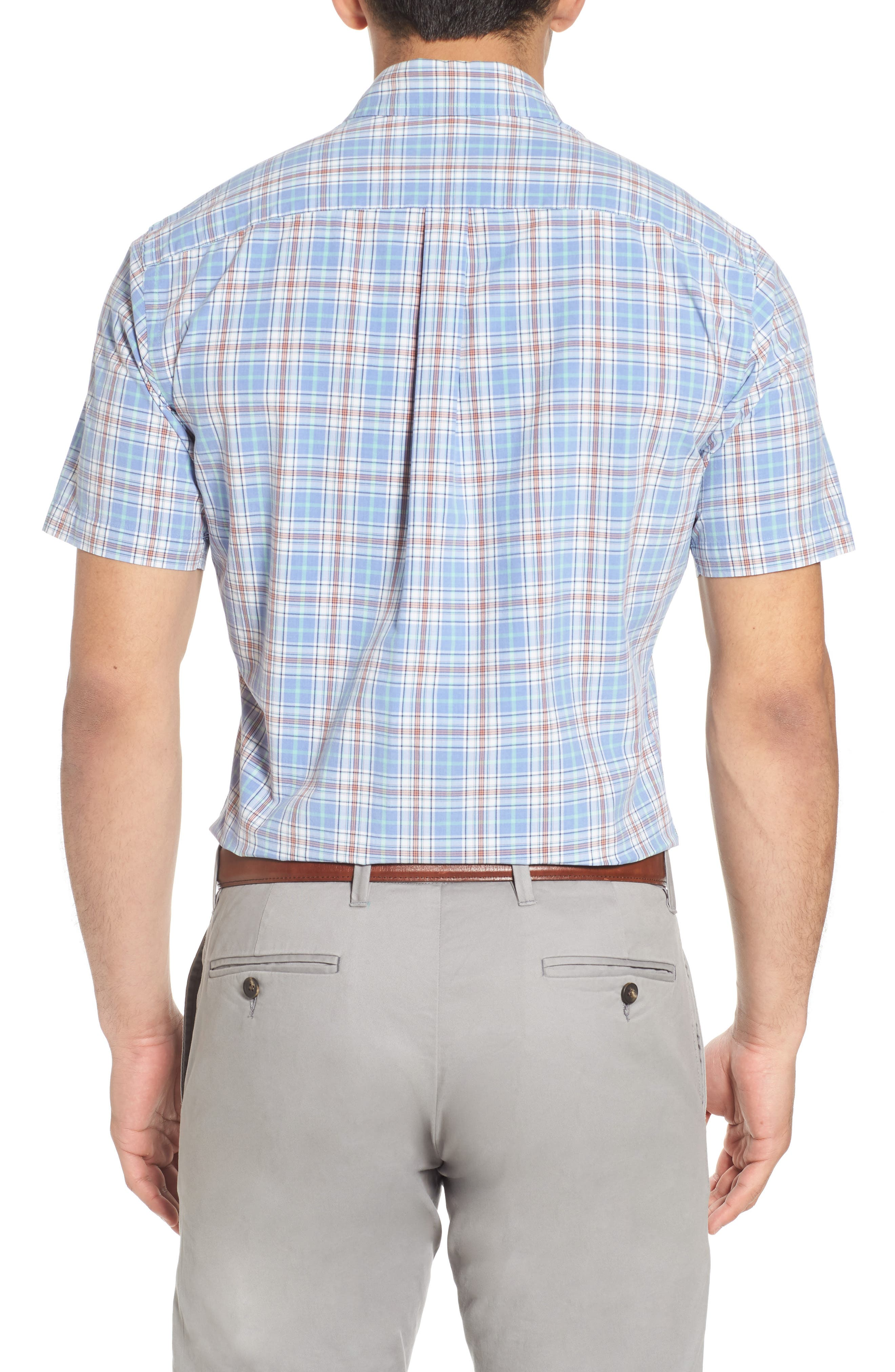 Rockport Plaid Sport Shirt,                             Alternate thumbnail 2, color,                             Bonnet