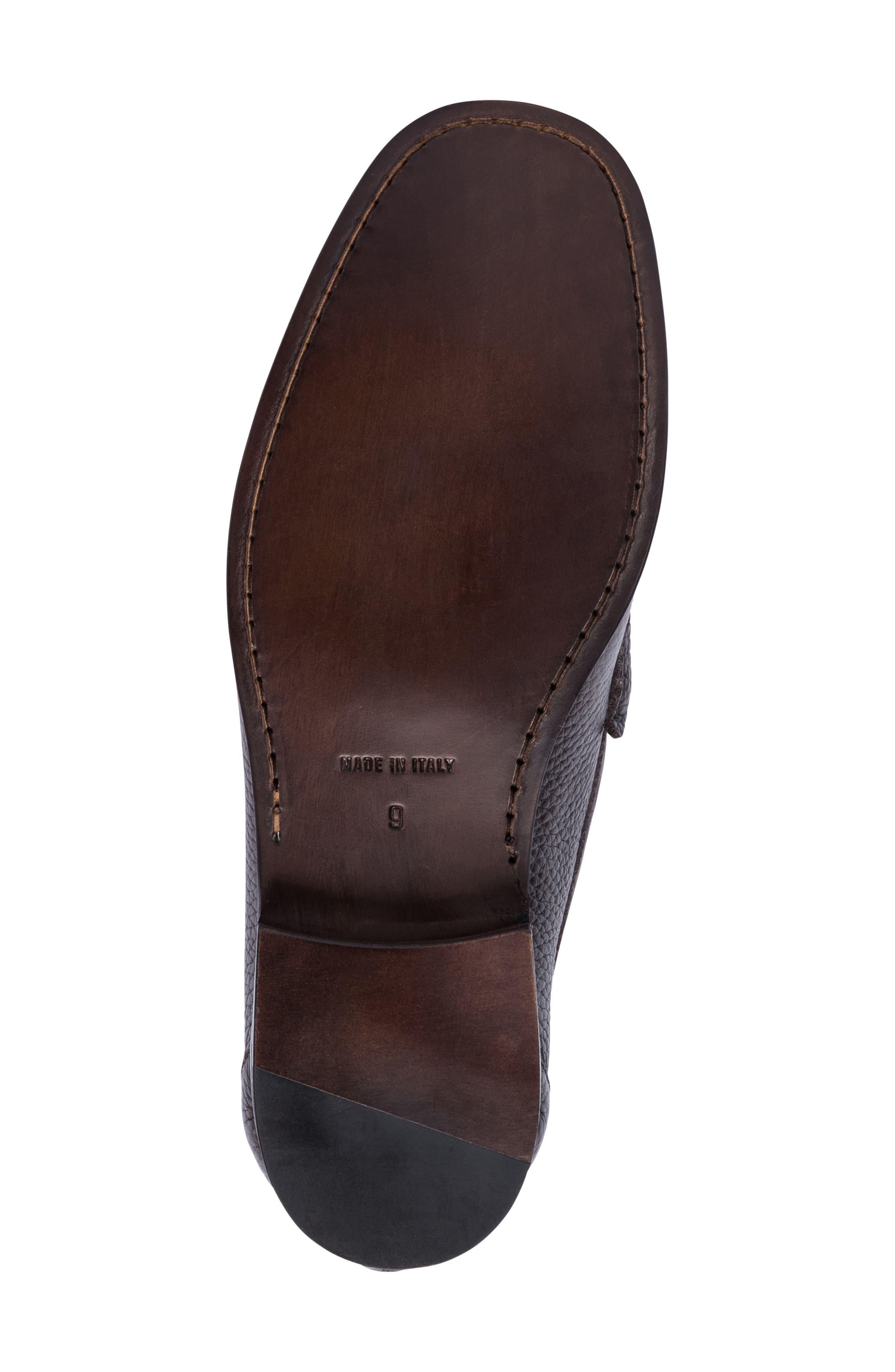 Padua Bit Loafer,                             Alternate thumbnail 6, color,                             Brown Leather