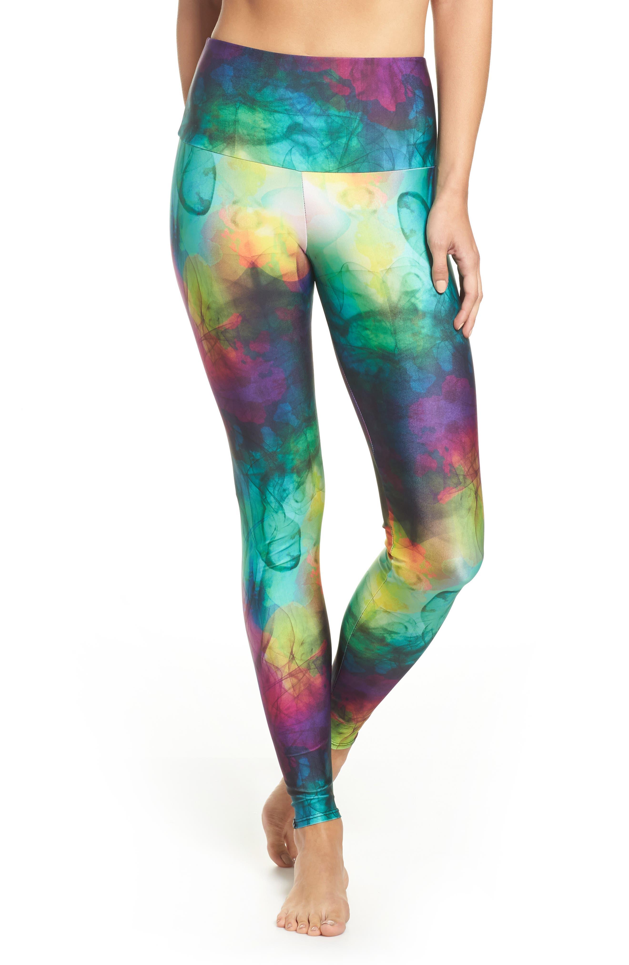 High Waist Leggings,                         Main,                         color, Smoke And Mirrors
