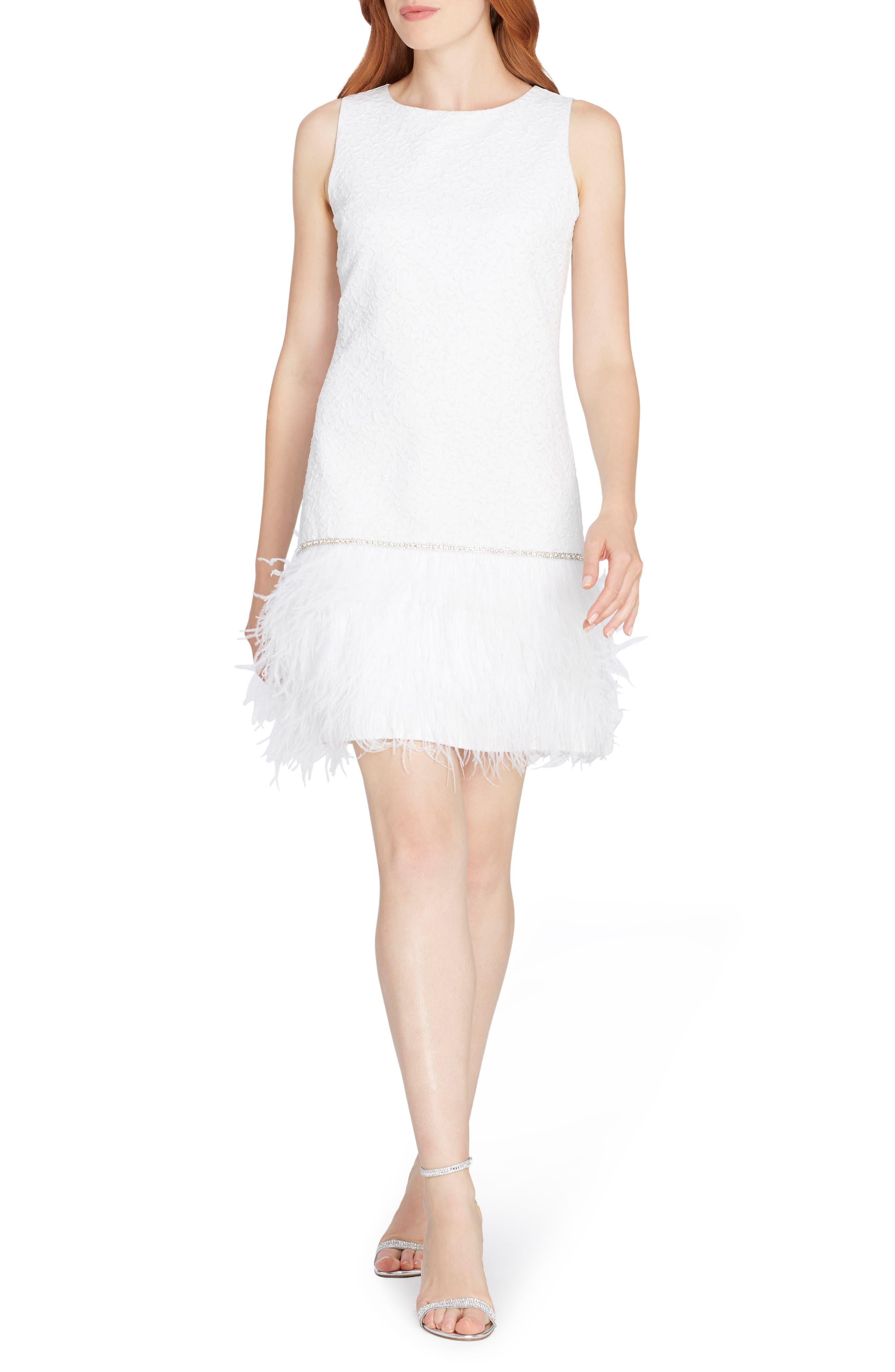 Main Image - Tahari Metallic Jacquard Cocktail Dress