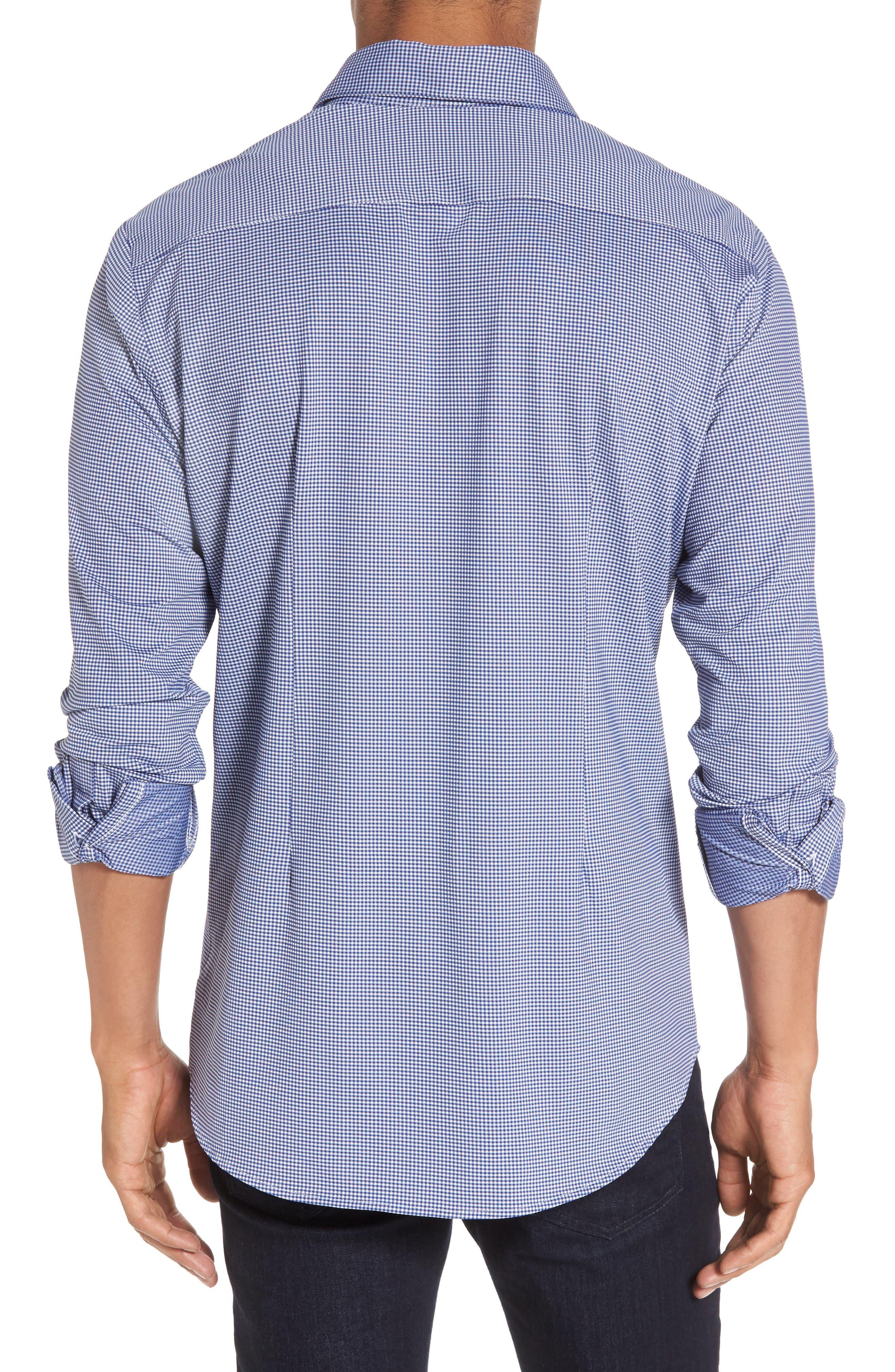 Davenport Gingham Sport Shirt,                             Alternate thumbnail 2, color,                             Black