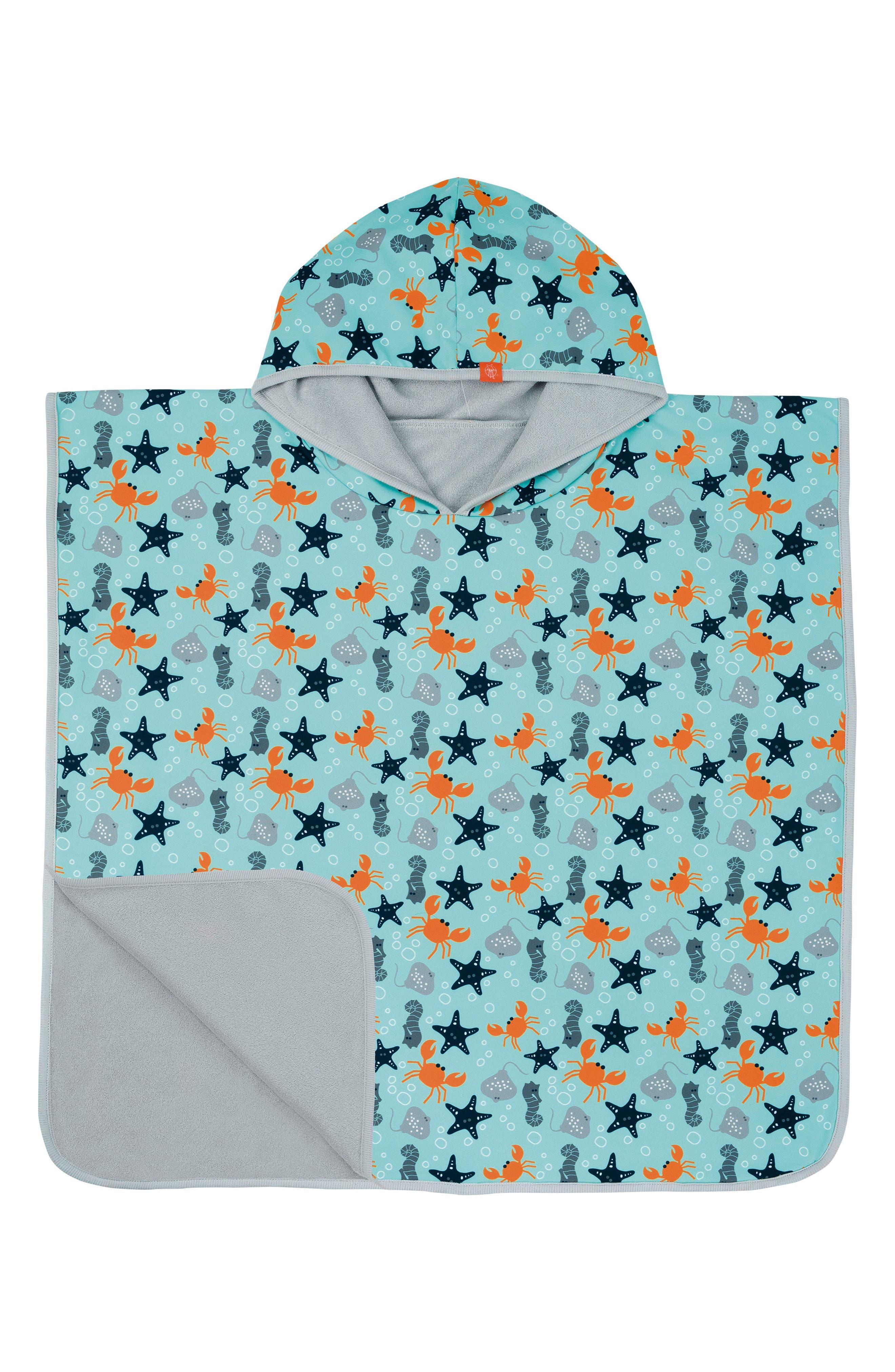 Main Image - Lässig Starfish Hooded Beach Poncho (Baby Boys)