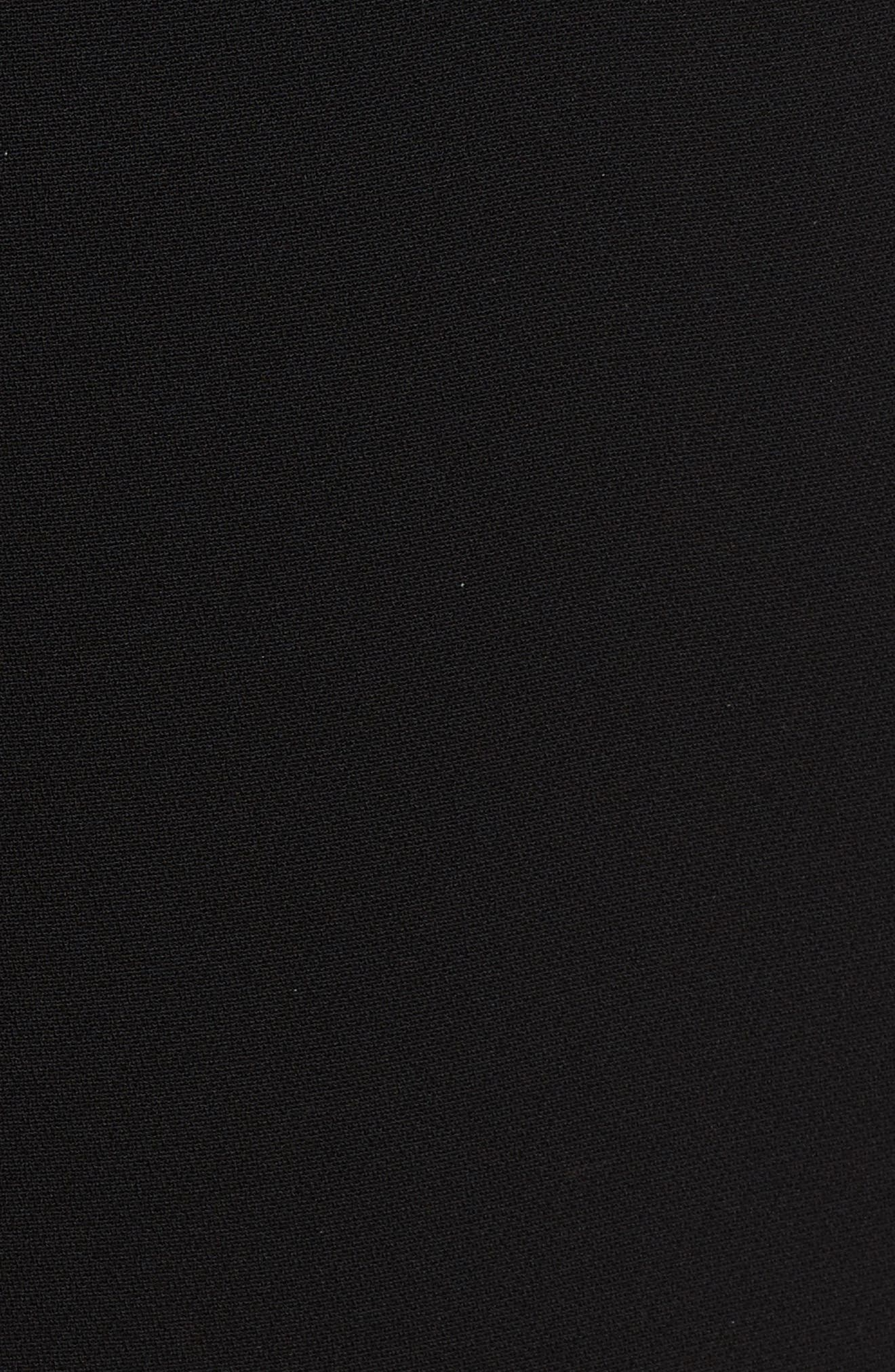Marci Wide Leg Crop Pants,                             Alternate thumbnail 5, color,                             Black