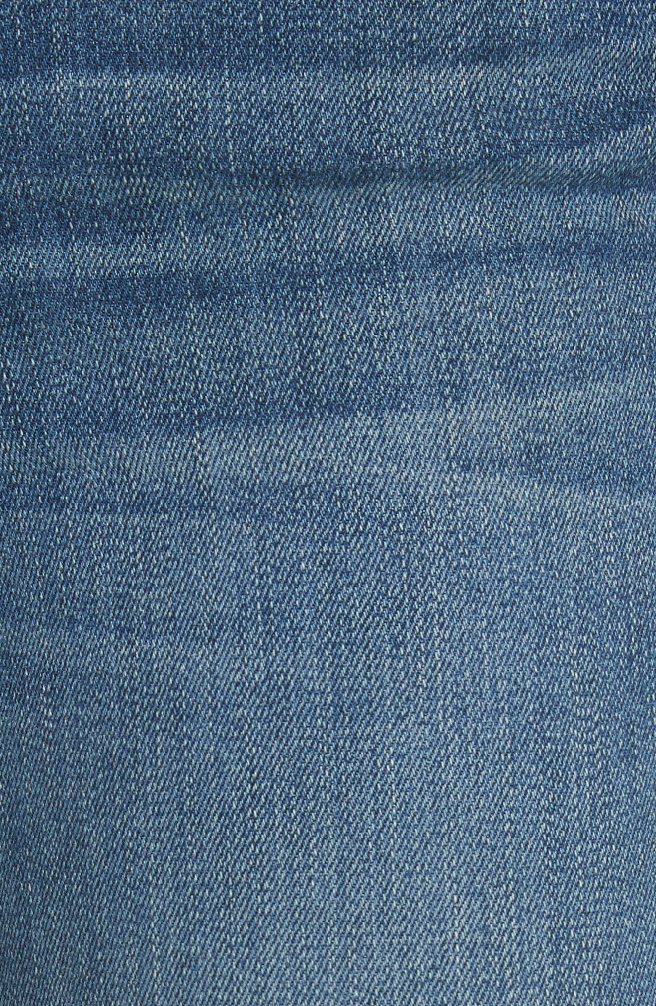 W4 Abigail Released Split Hem Ankle Skinny Jeans,                             Alternate thumbnail 5, color,                             Ady