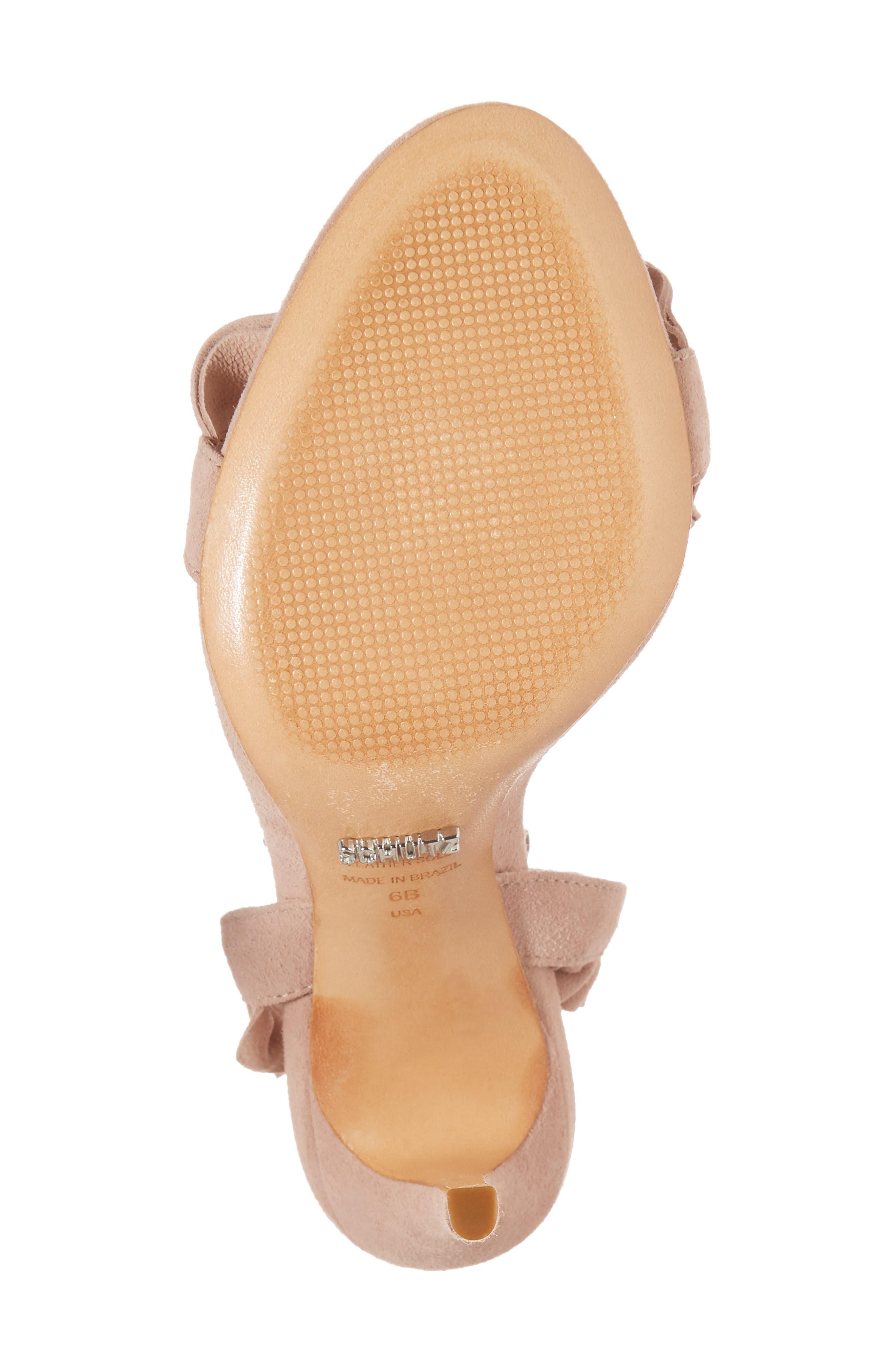 Irem Lace-UP Sandal,                             Alternate thumbnail 6, color,                             Peach Suede