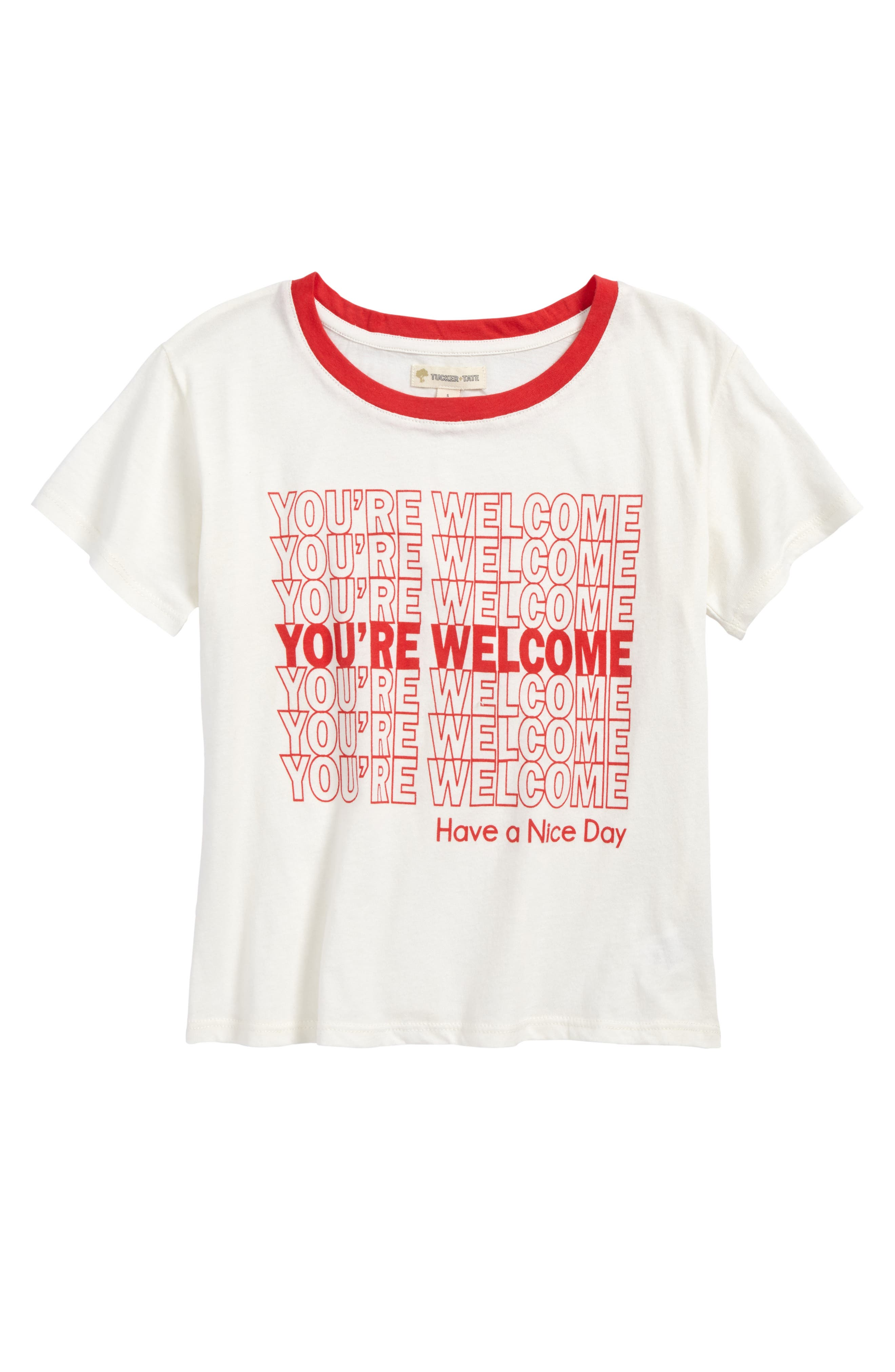 Main Image - Tucker + Tate Graphic Tee (Big Girls)