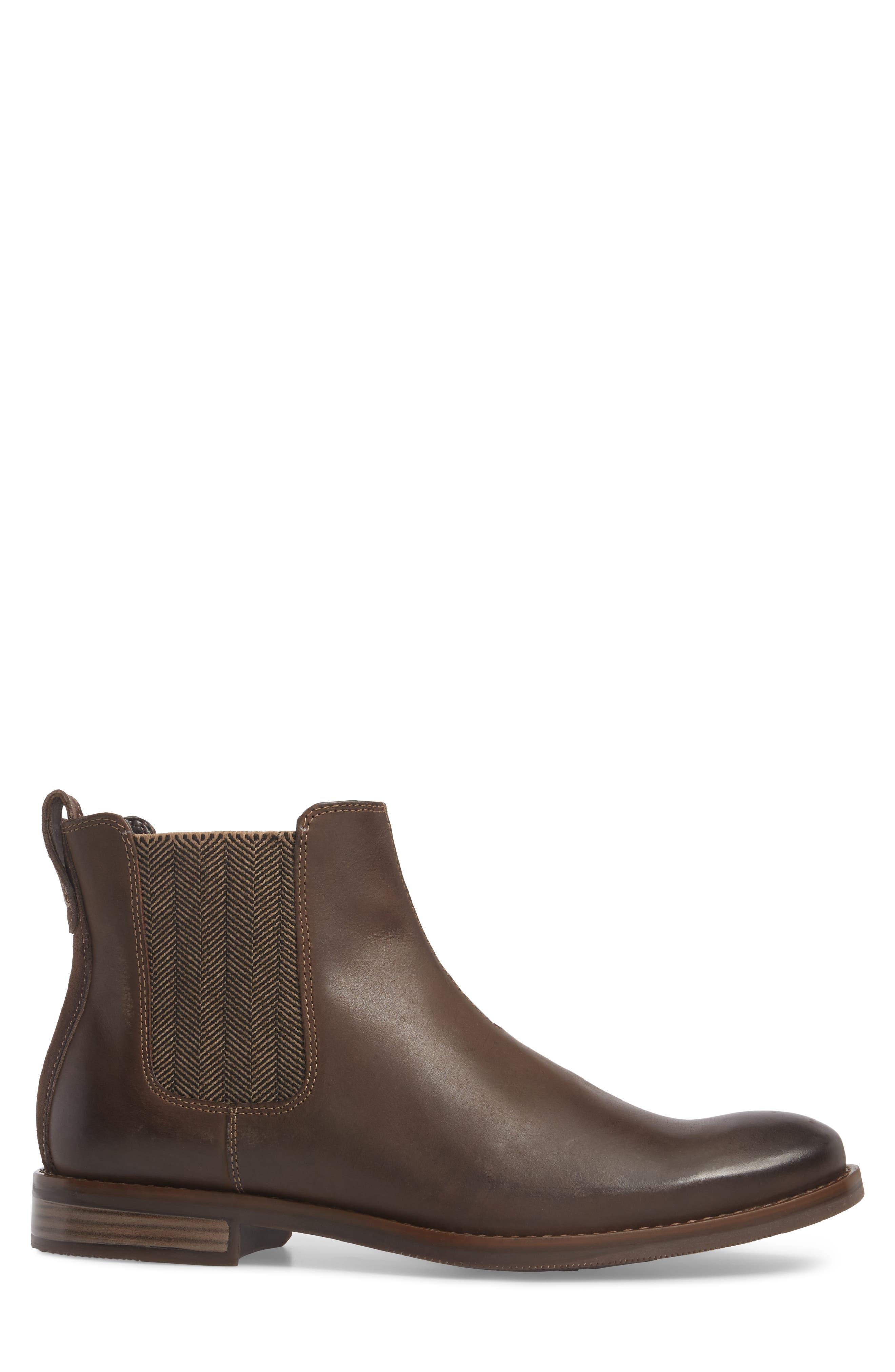 Wynstin Chelsea Boot,                             Alternate thumbnail 3, color,                             Dark Bitter Chocolate Leather