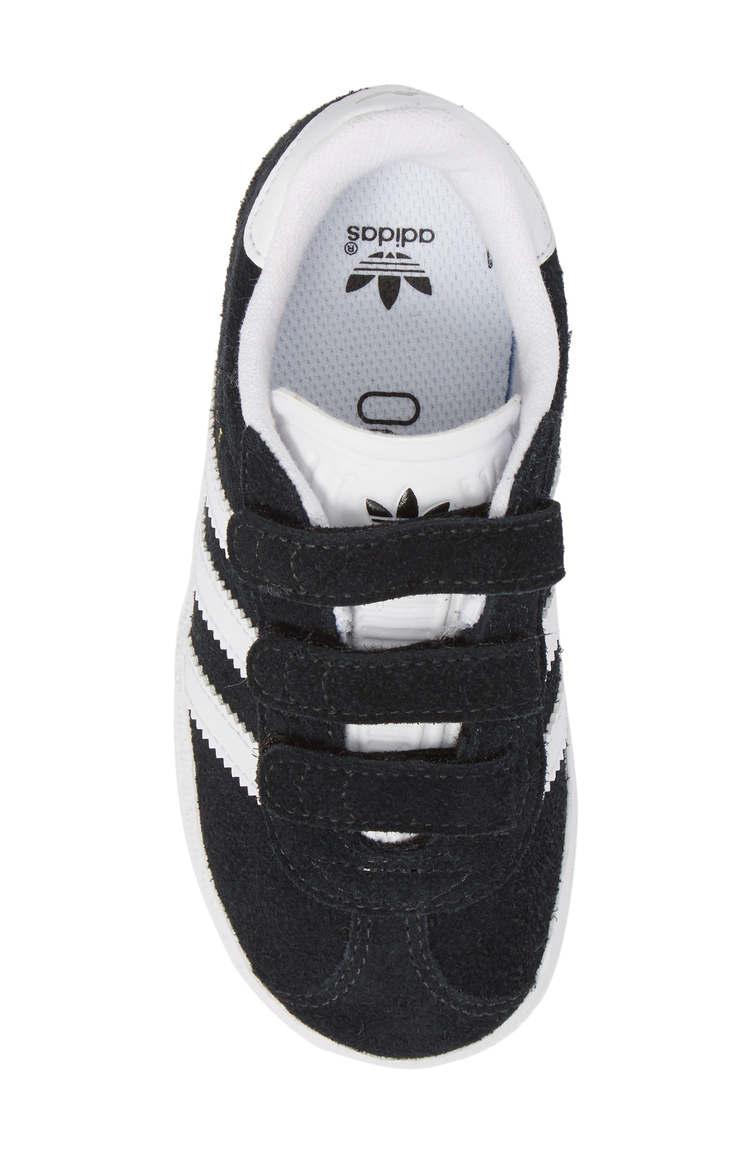 Gazelle Sneaker,                             Alternate thumbnail 6, color,                             Core Black / White / White