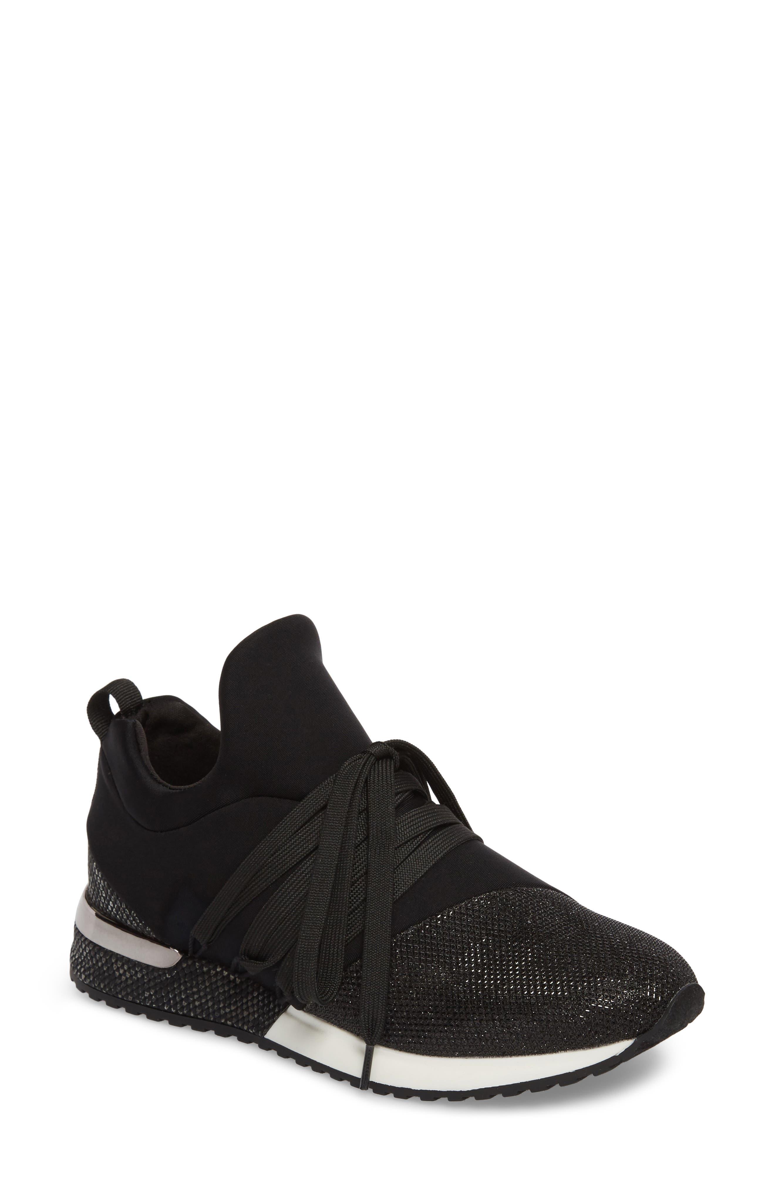 Zorro Sneaker,                         Main,                         color, Black Fabric