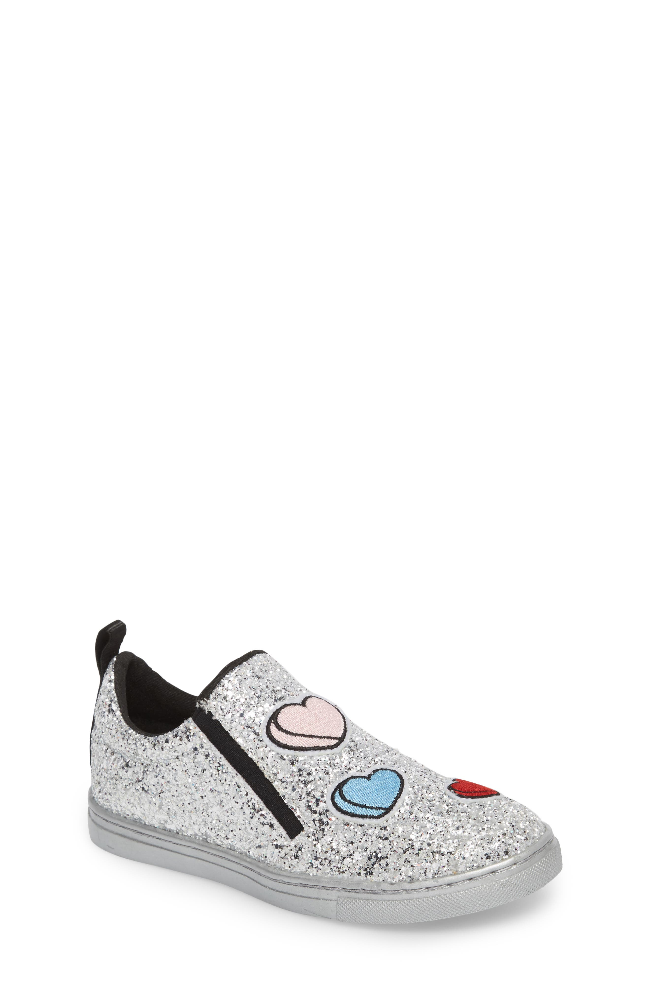 Zach Sneaker,                             Main thumbnail 1, color,                             Silver Multi Glitter
