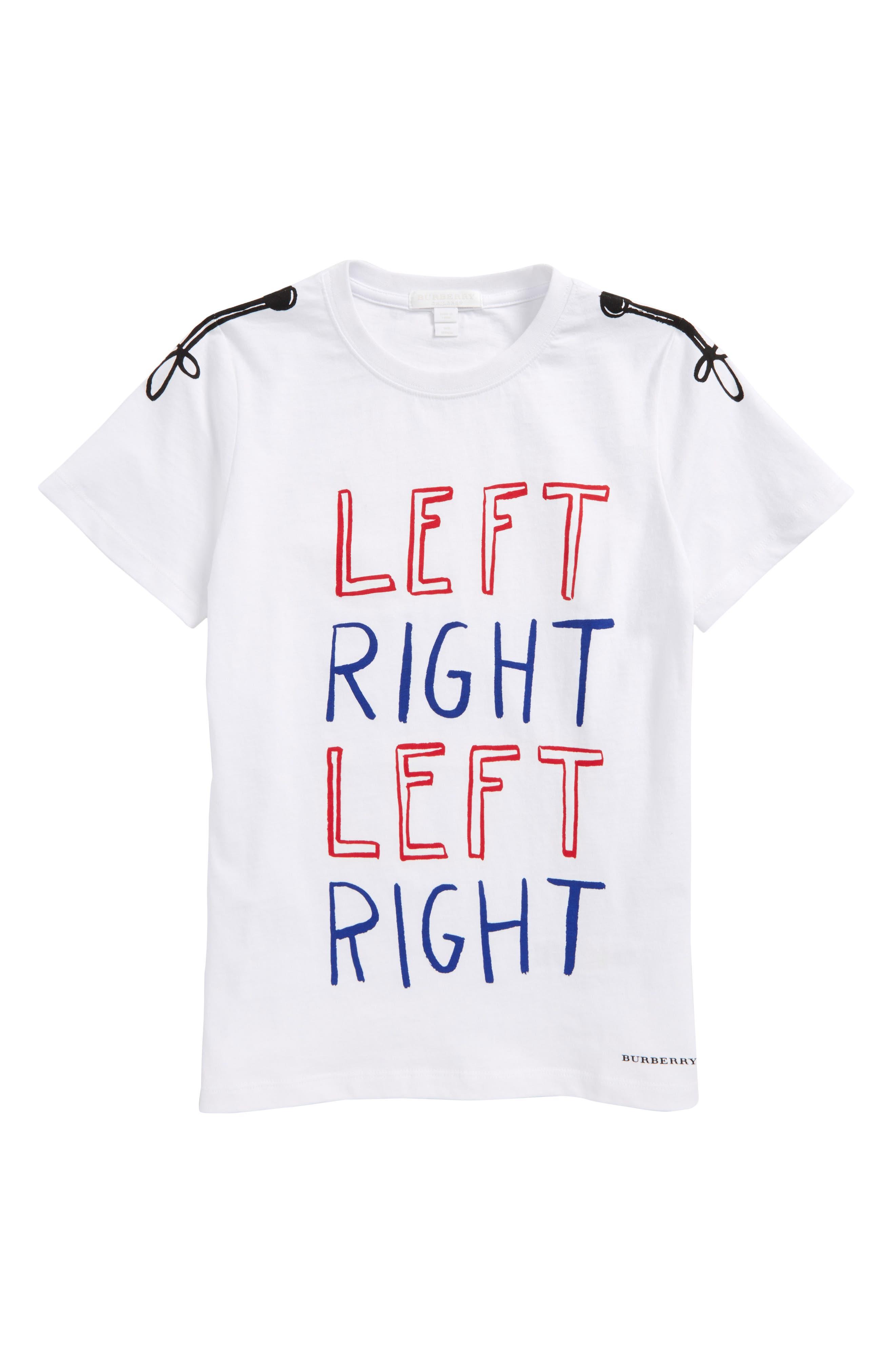 Left Right T-Shirt,                             Main thumbnail 1, color,                             White