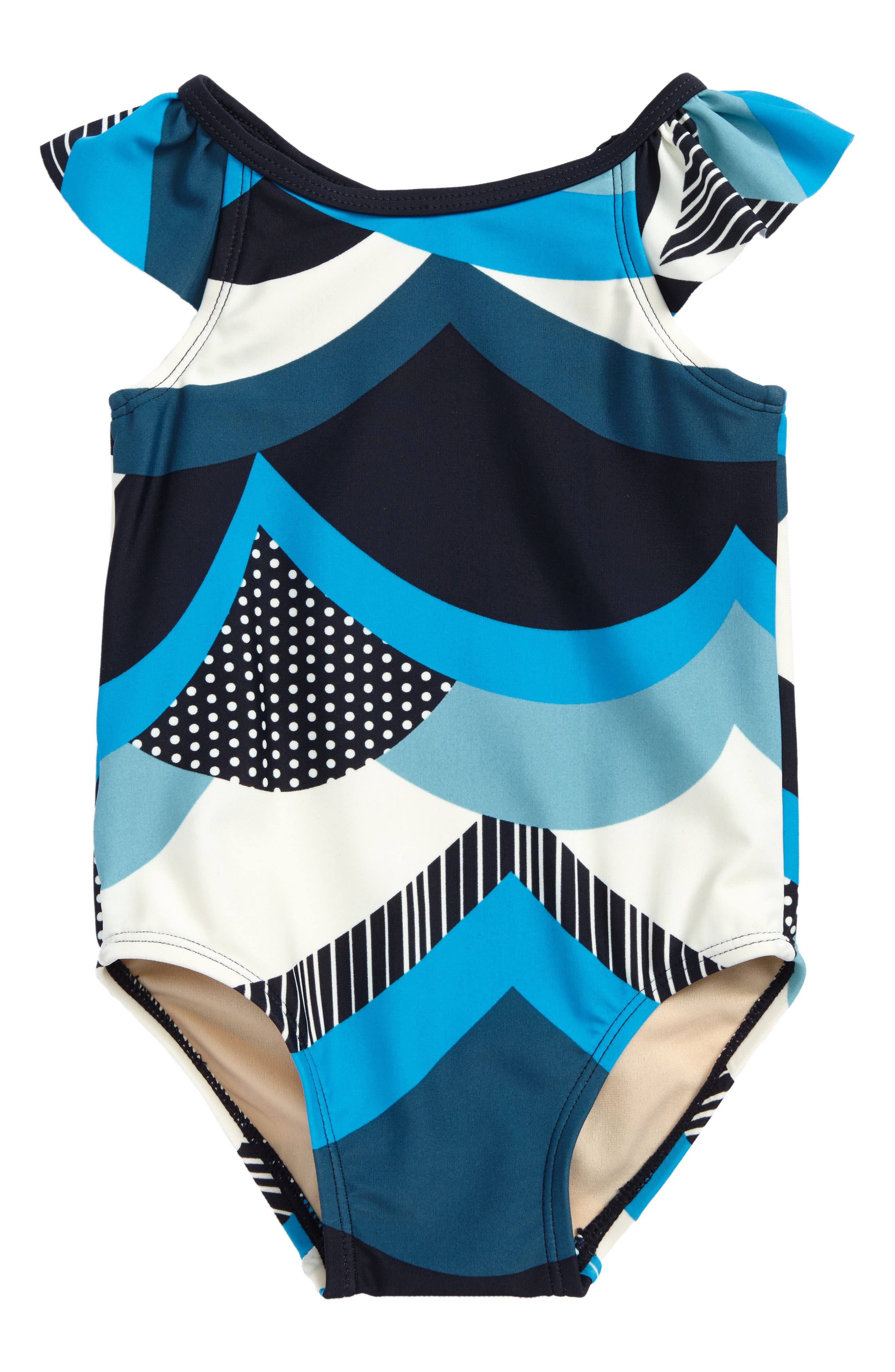 Make Waves One-Piece Swimsuit,                             Main thumbnail 1, color,                             Indigo