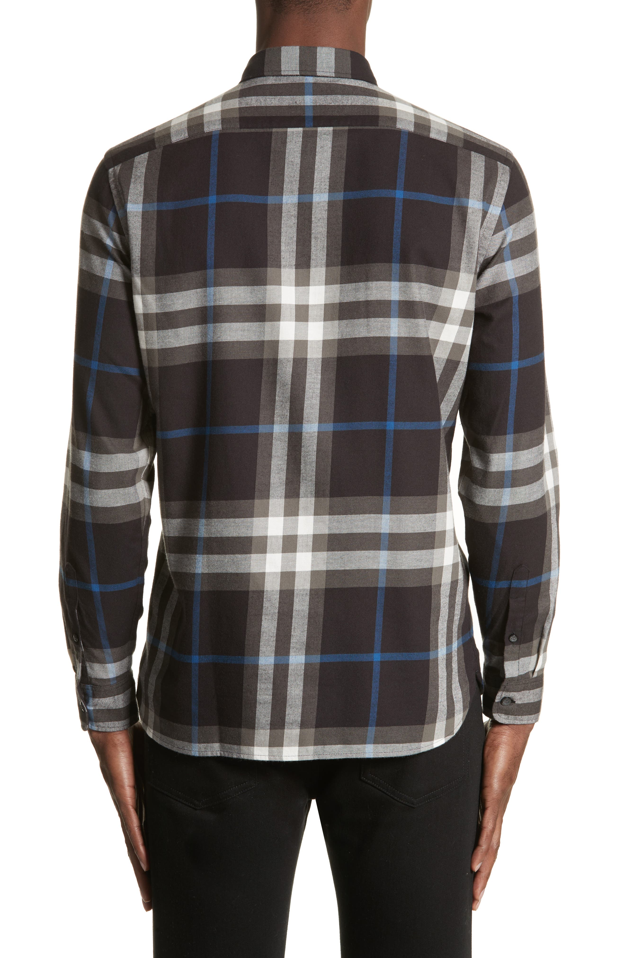 Salwick Slim Fit Sport Shirt,                             Alternate thumbnail 2, color,                             Black