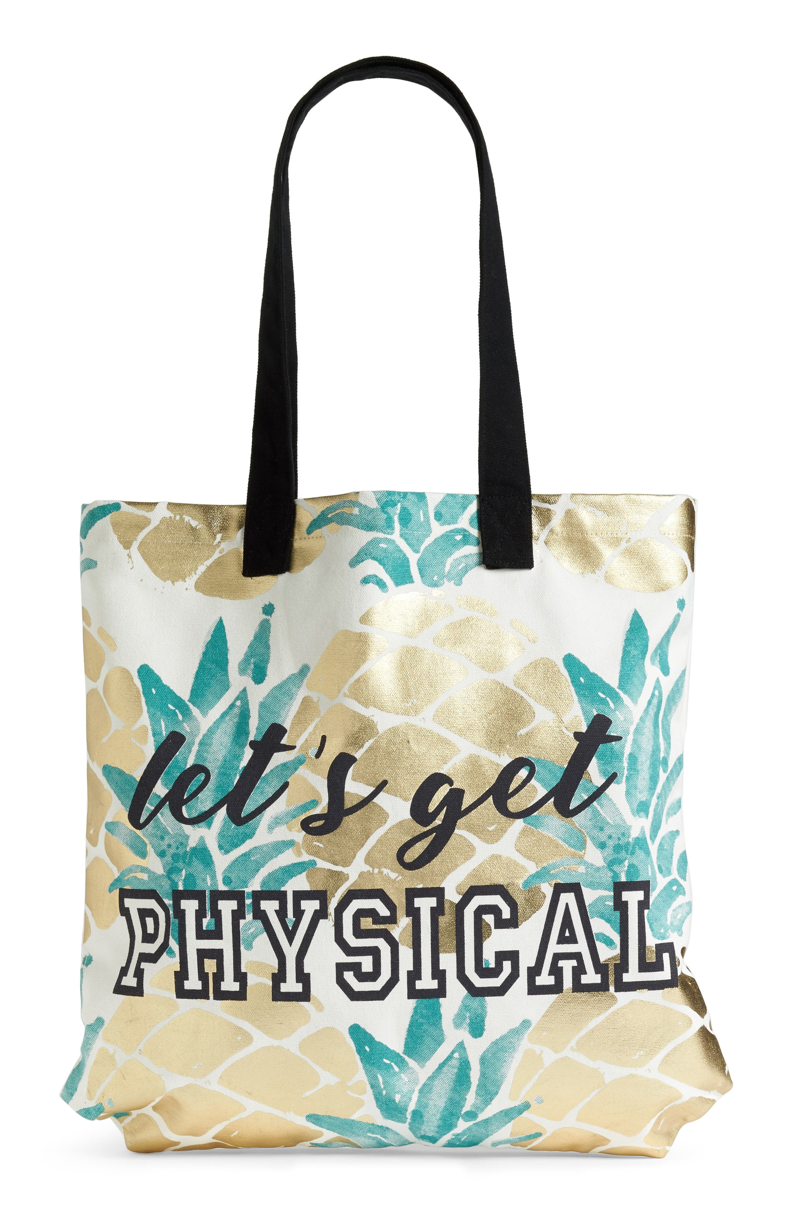 Let's Get Physical Tote,                             Main thumbnail 1, color,                             Multi