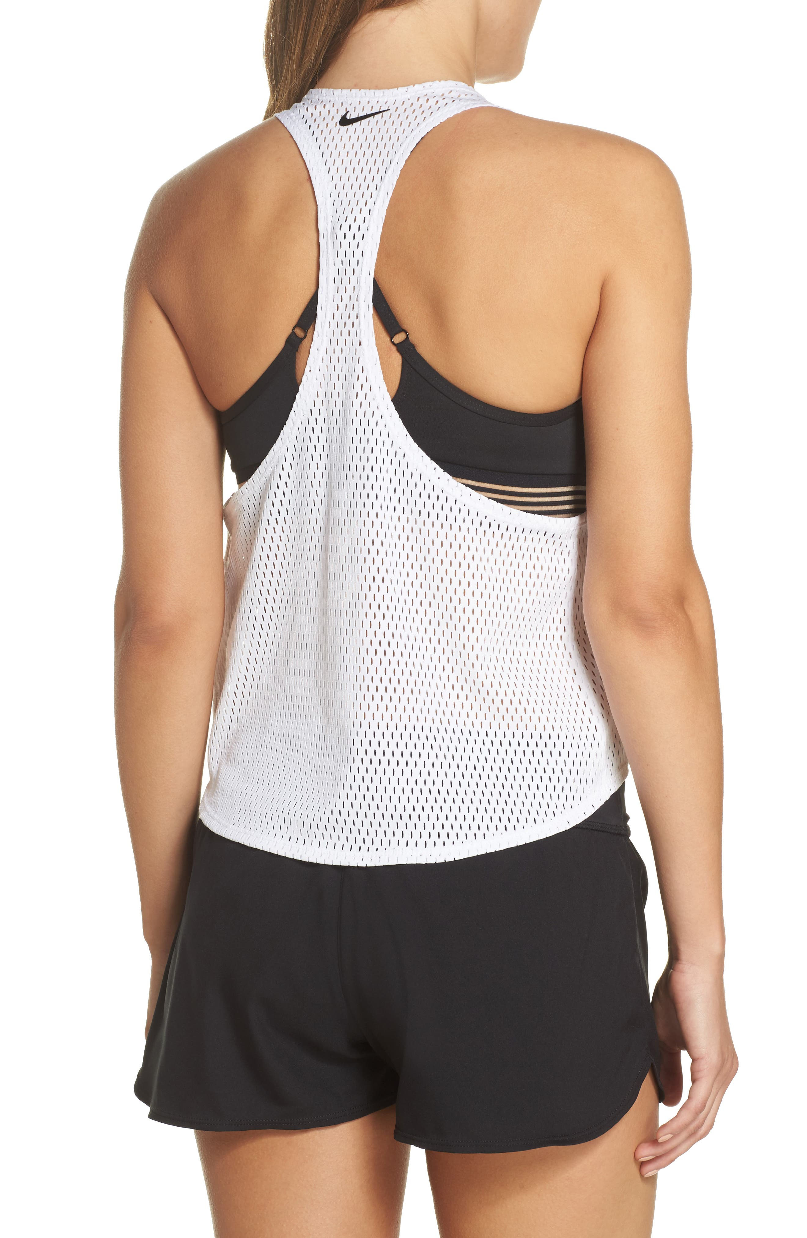 Mesh Crop Top Cover-Up,                             Alternate thumbnail 2, color,                             White