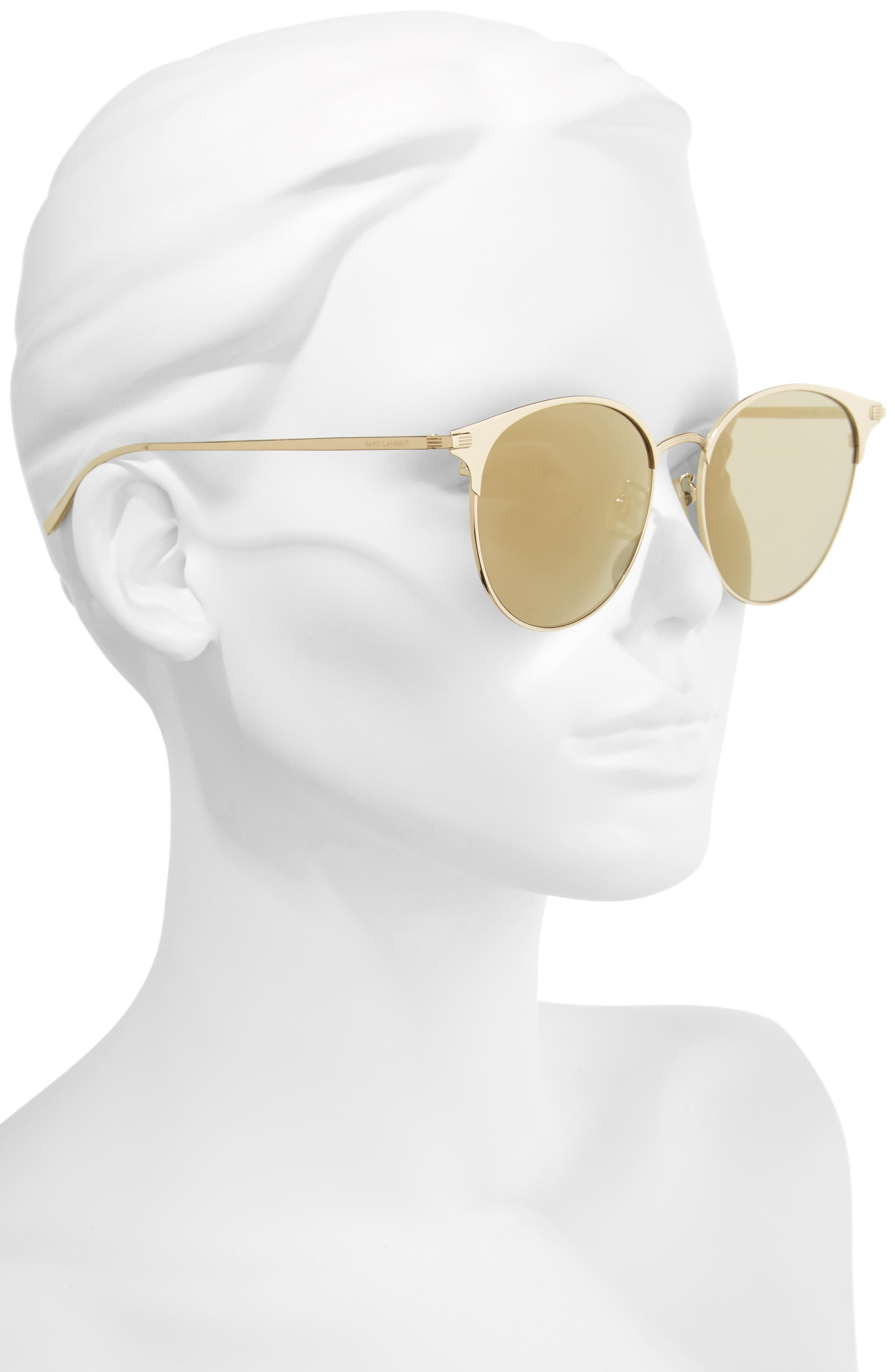 57mm Sunglasses,                             Alternate thumbnail 2, color,                             Gold