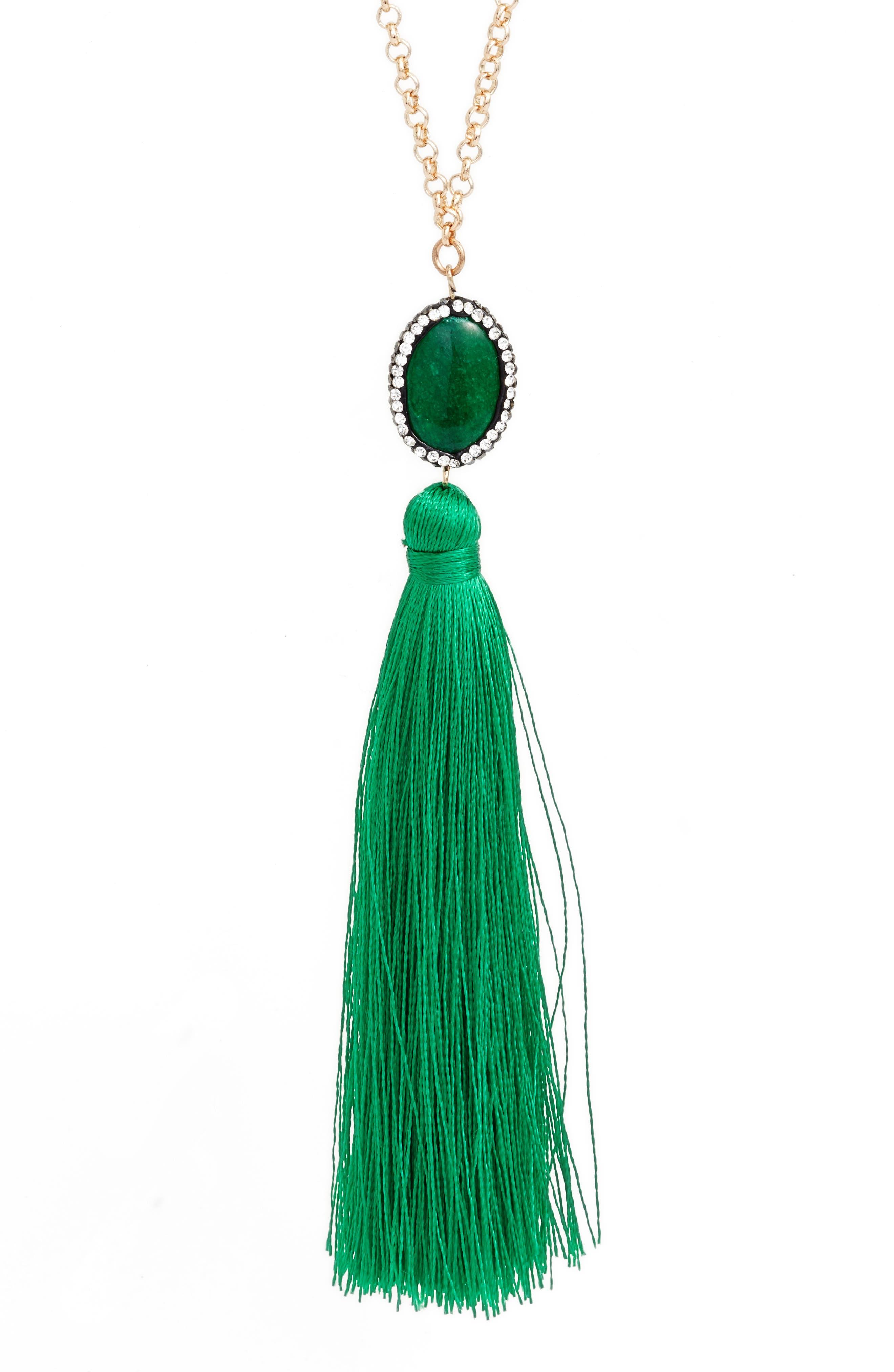 Alternate Image 2  - Tasha Beaded Tassel Necklace