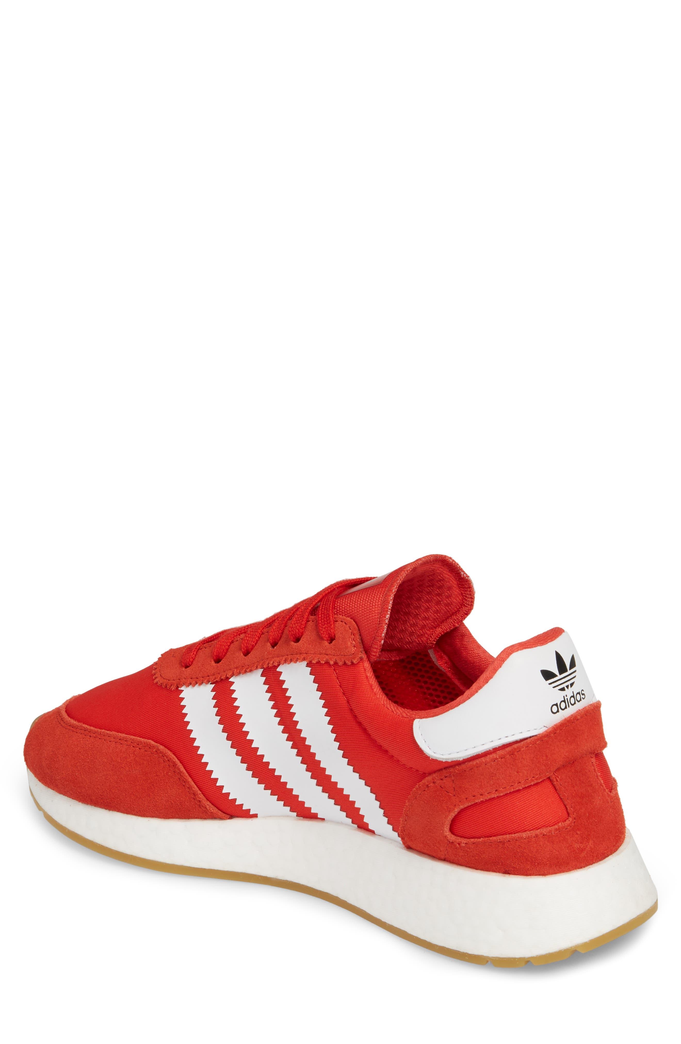 Iniki Running Shoe,                             Alternate thumbnail 2, color,                             Red/ White/ Gum