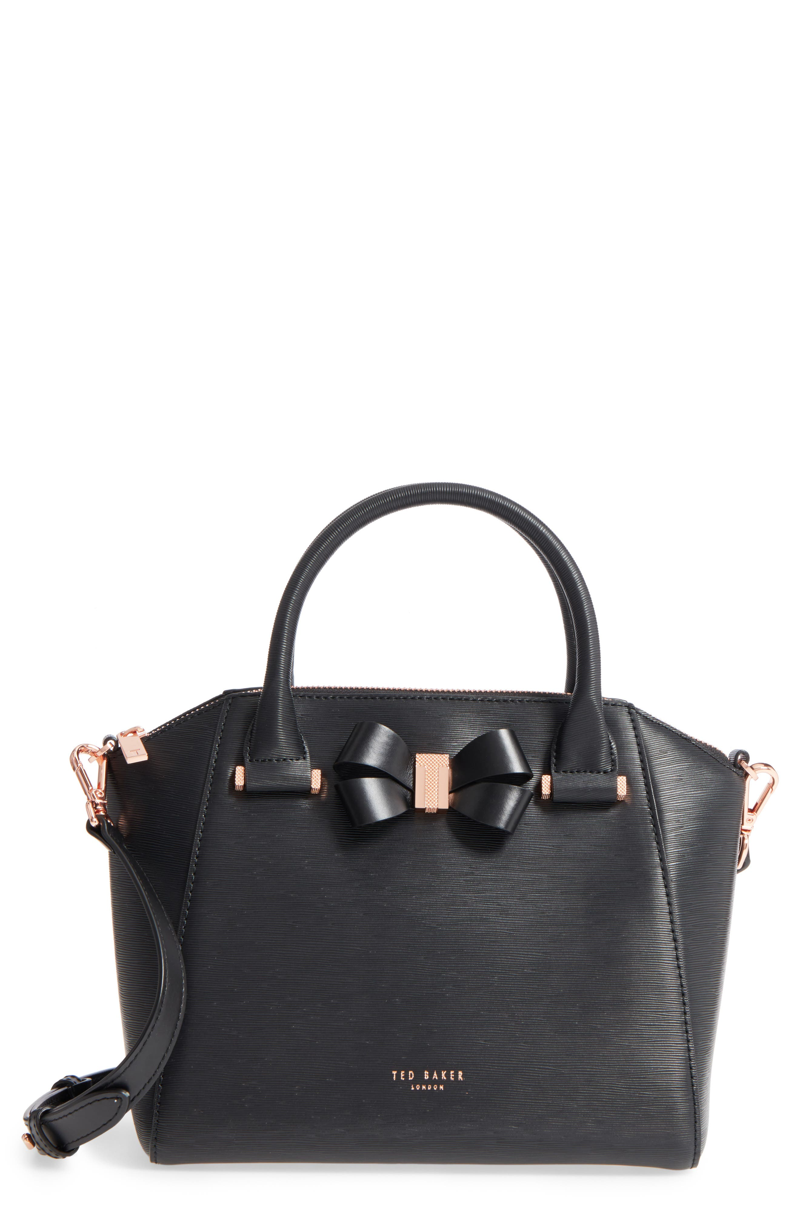 Main Image - Ted Baker London Charmea Bow Small Leather Tote