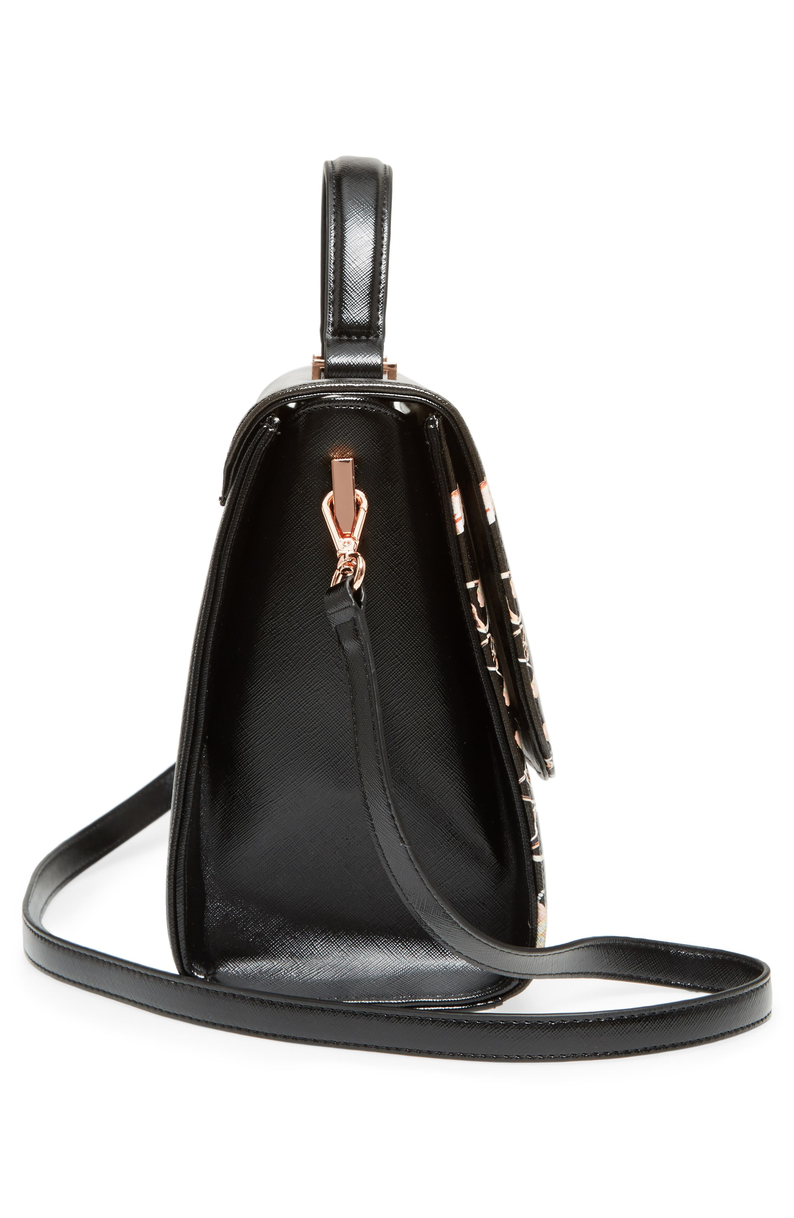 Alternate Image 5  - Ted Baker London Buzzy Queen Bee Faux Leather Satchel