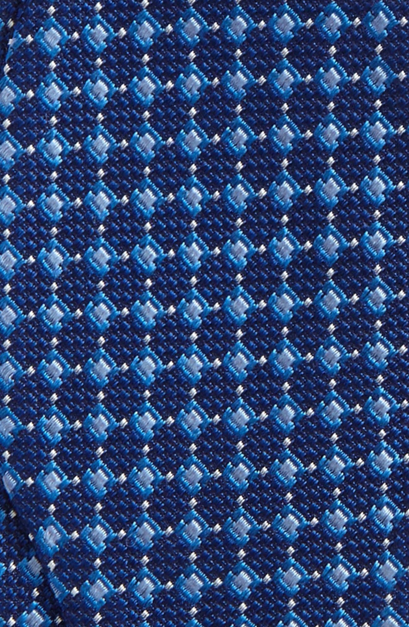 Nordstrom Men's Shop Jacquard Silk Tie,                             Alternate thumbnail 3, color,                             Blue