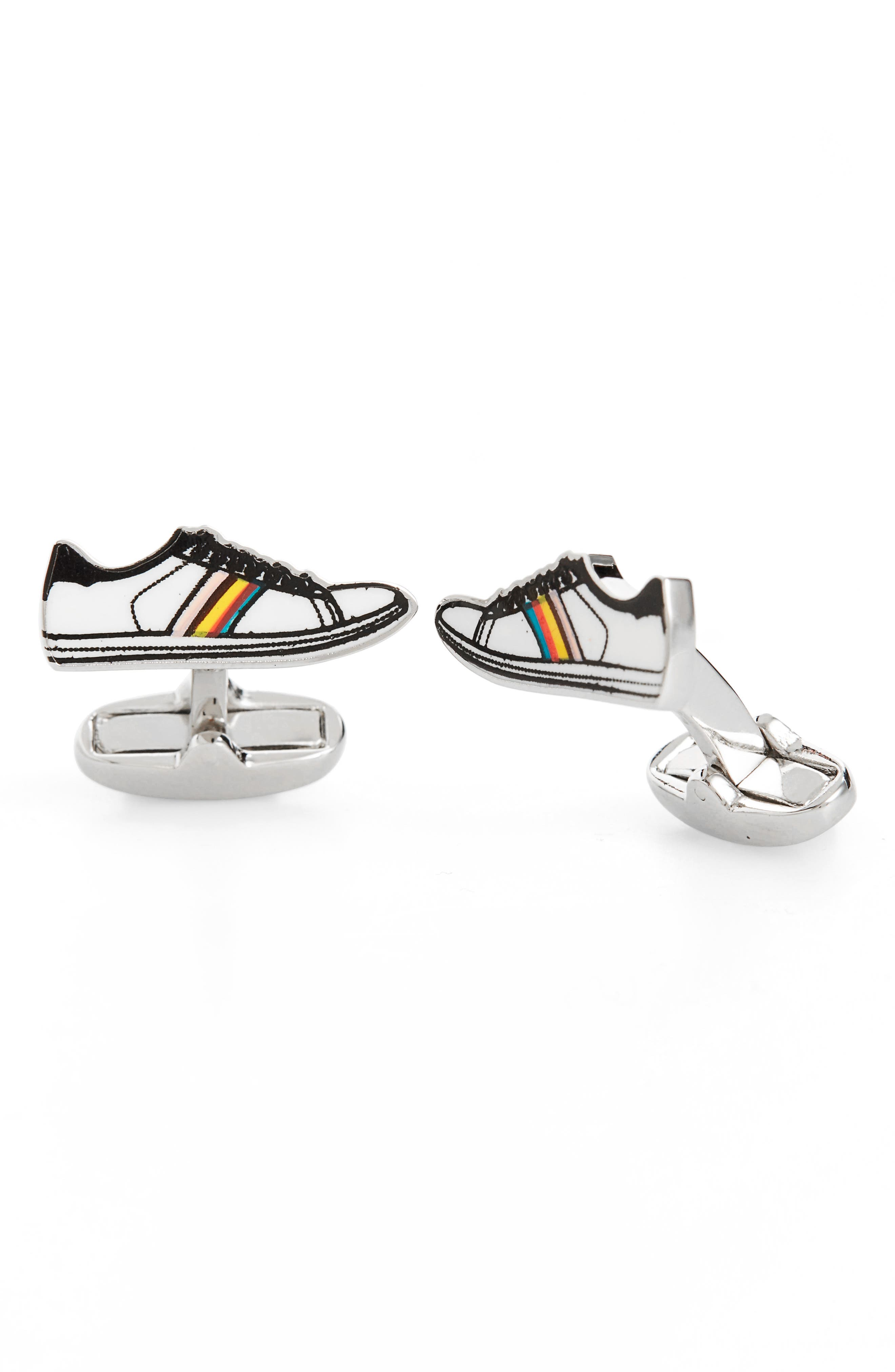 Trainer Cuff Links,                         Main,                         color, White