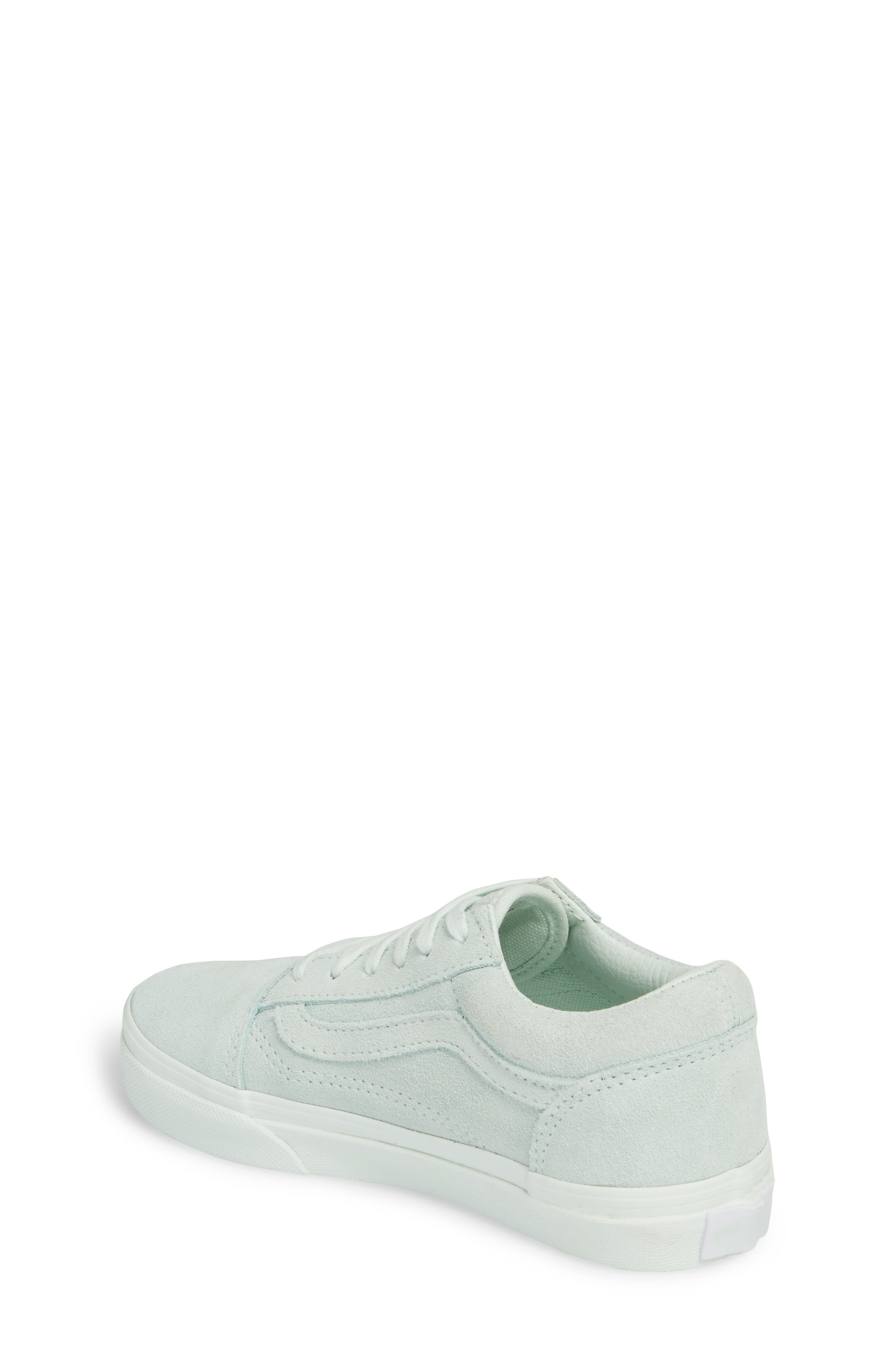 Old Skool Low Top Sneaker,                             Alternate thumbnail 2, color,                             Suede Mono/ Aqua Glass