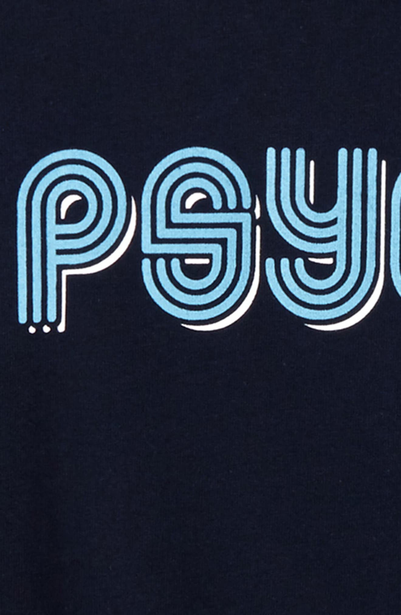 Psyched Print T-Shirt,                             Alternate thumbnail 2, color,                             Navy