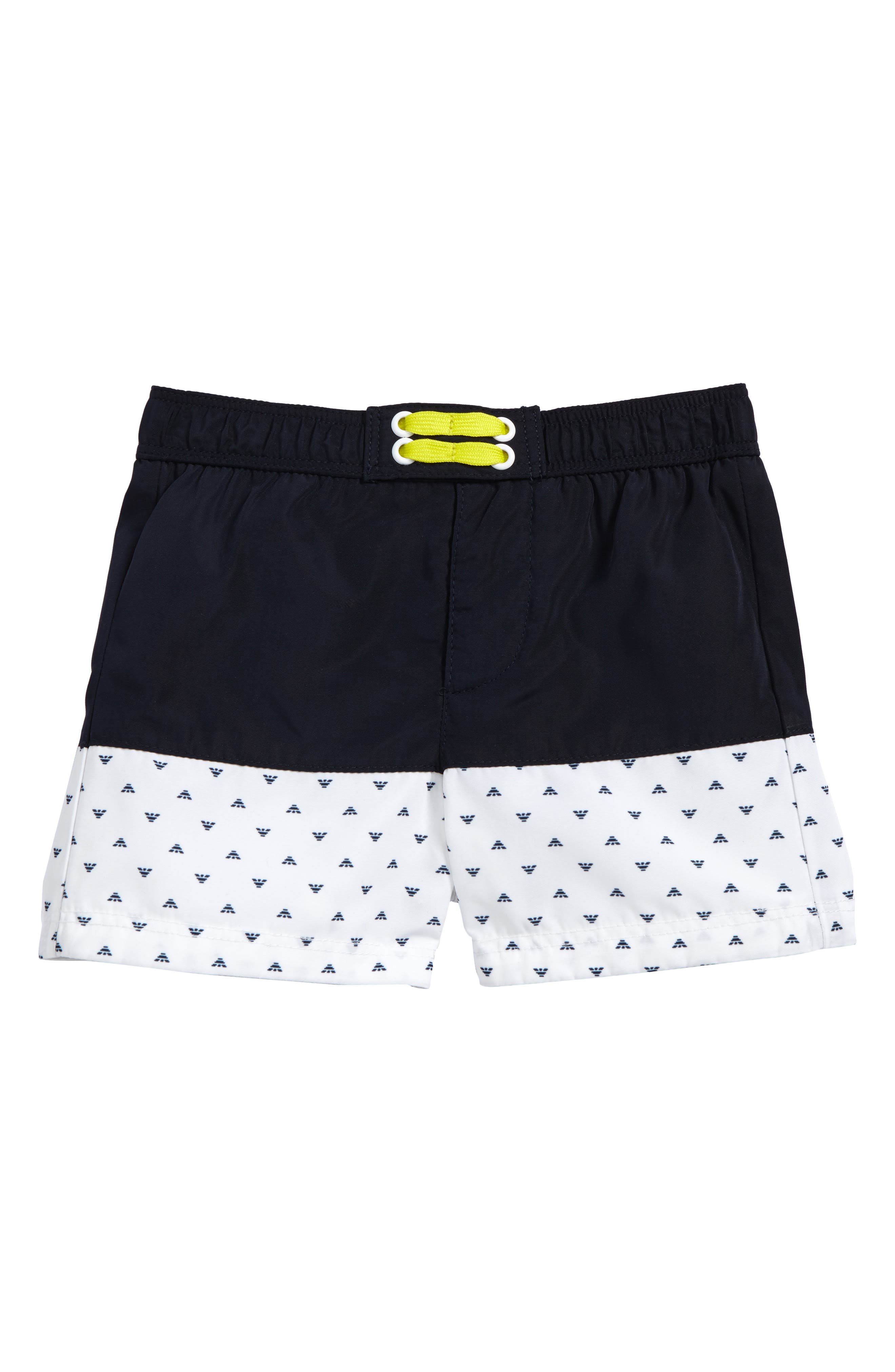 Armani Junior Logo Swim Trunks (Baby Boys)