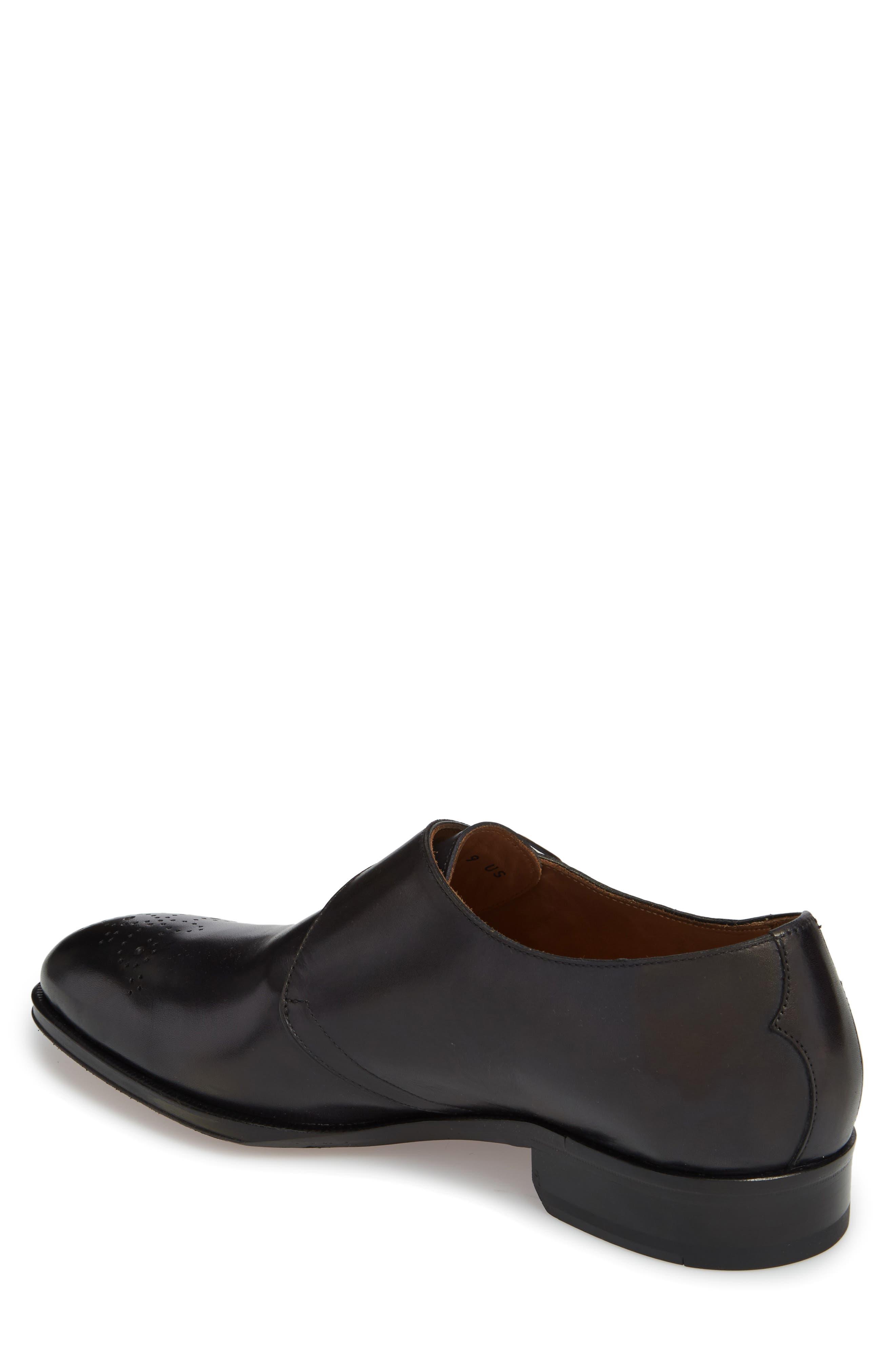 Gallo Bianco Bologna Monk Strap Shoe,                             Alternate thumbnail 2, color,                             Anthracite