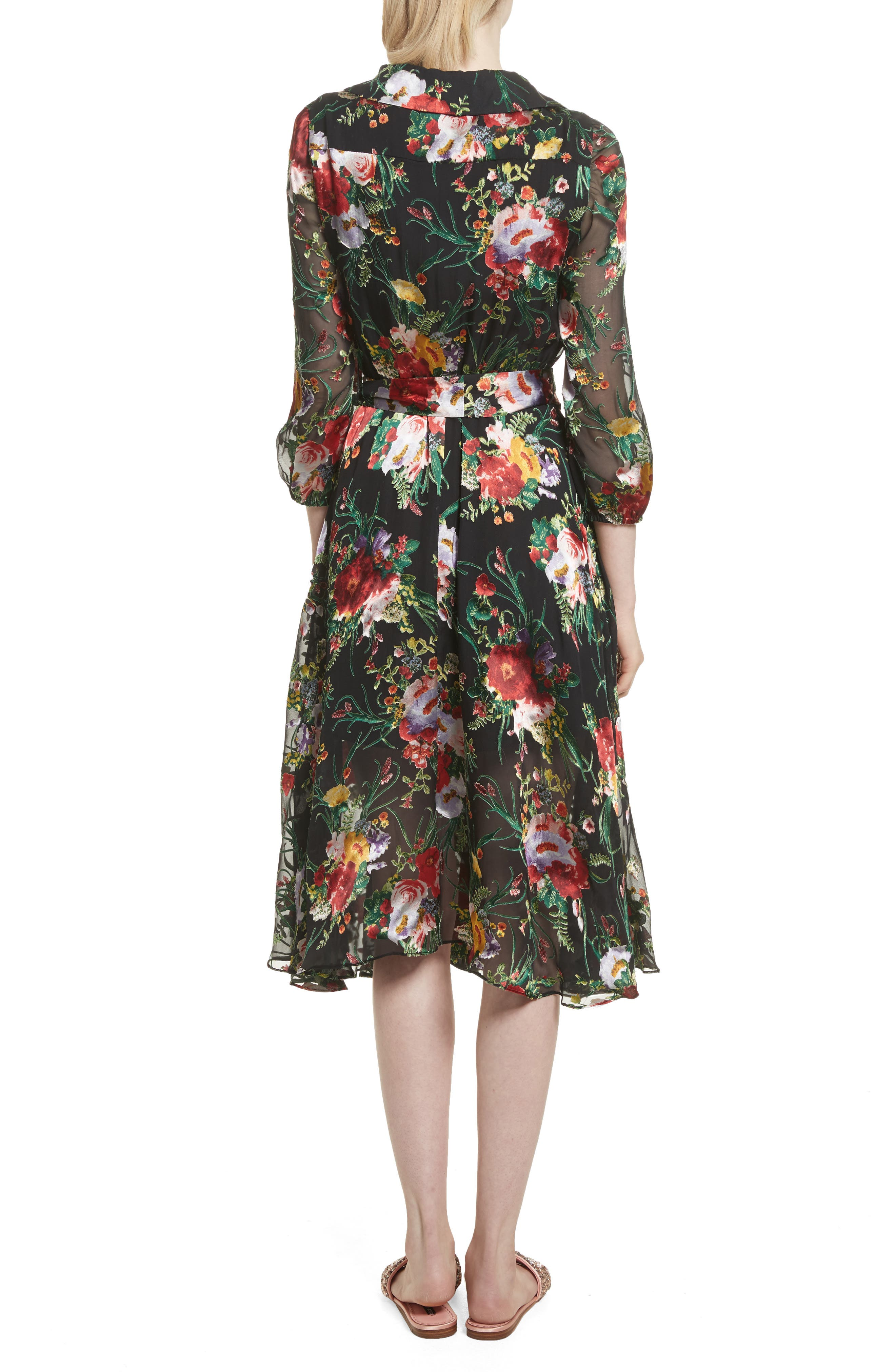 Abney Floral Wrap Shirtdress,                             Alternate thumbnail 2, color,                             Blooming Bouquet
