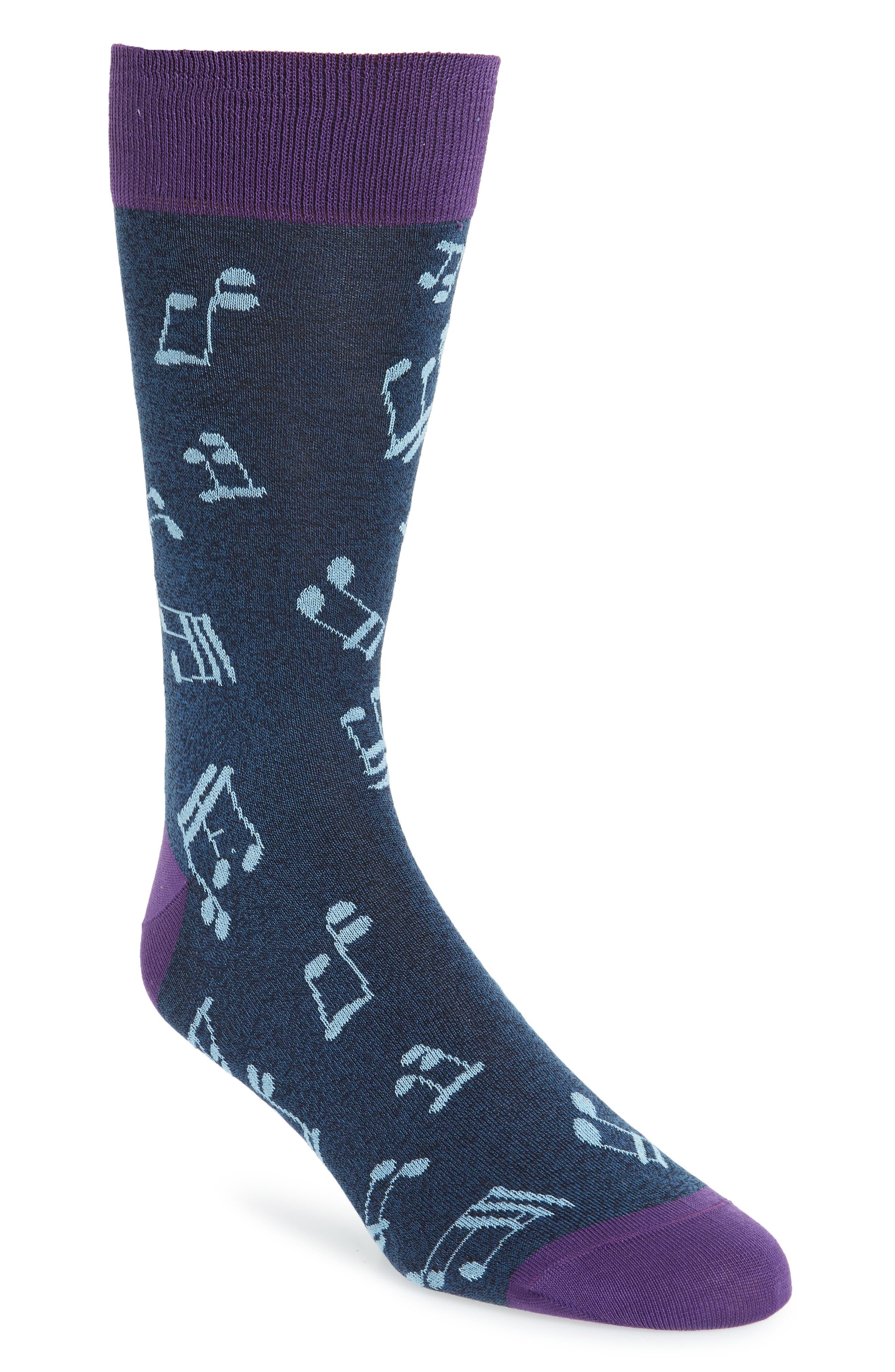 Bugatchi Musical Note Socks