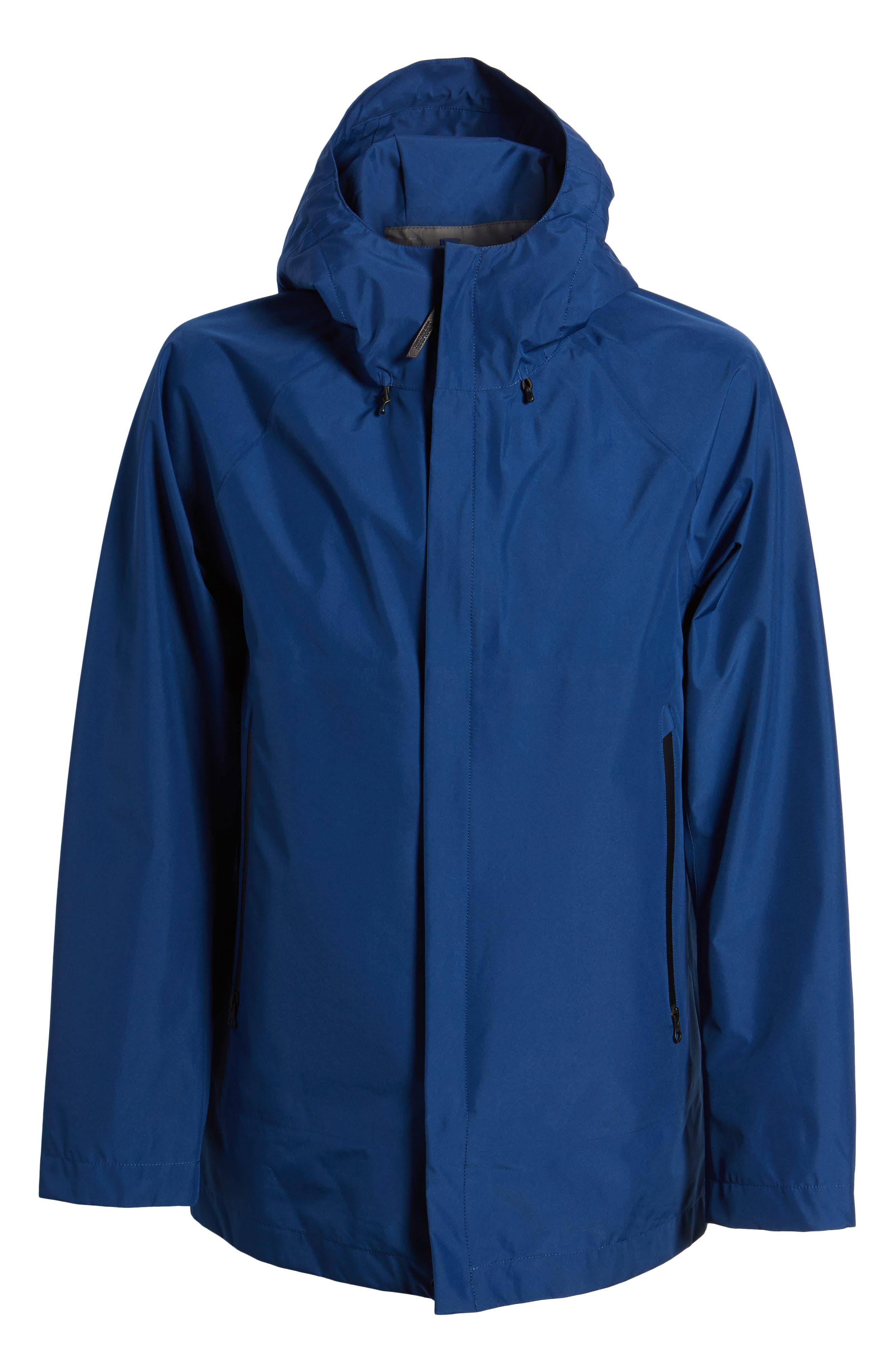 Atlantic Gore-Tex<sup>®</sup> Hooded Coat,                             Alternate thumbnail 6, color,                             Active Blue Ace