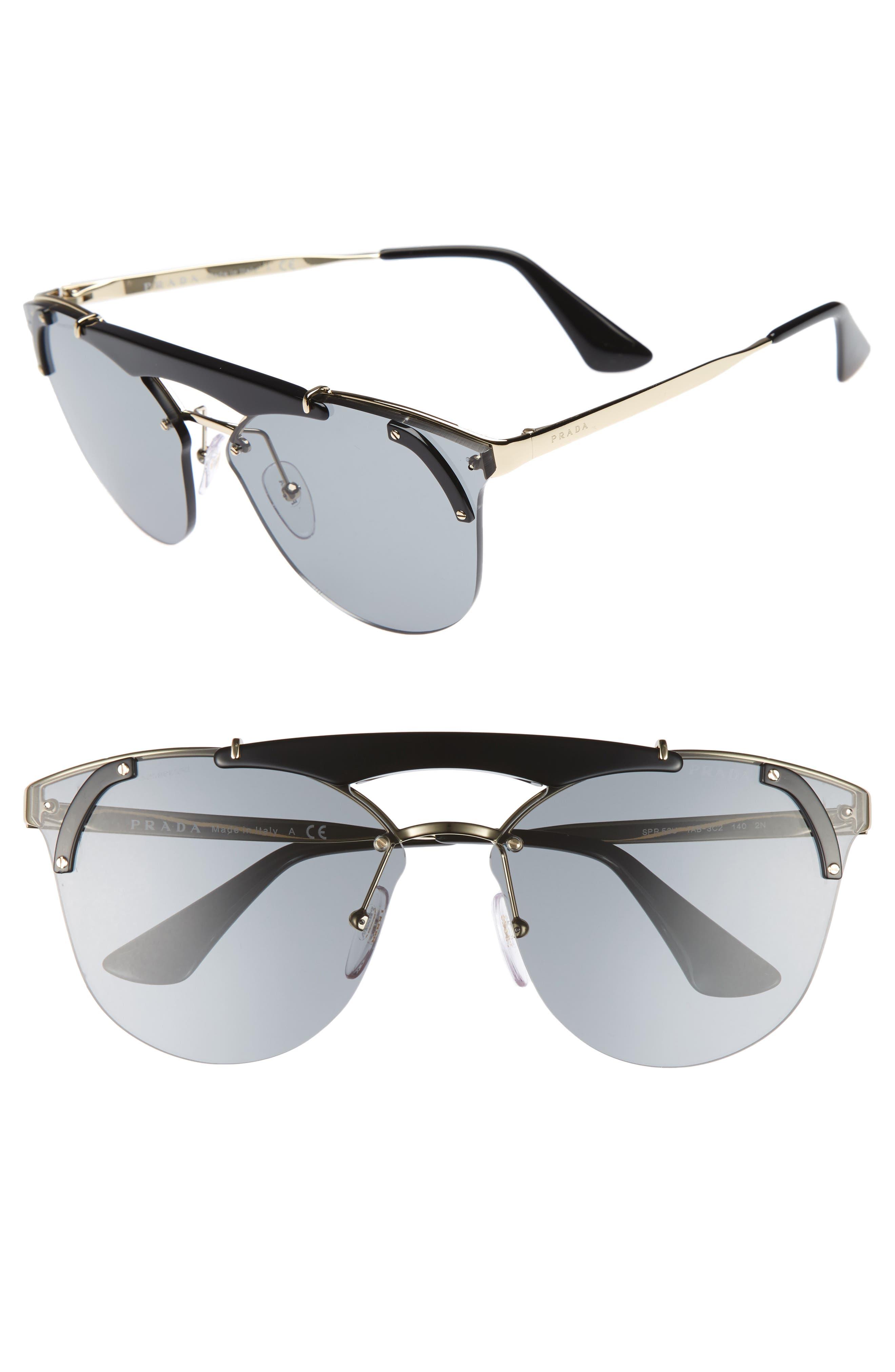 Main Image - Prada 53mm Round Sunglasses