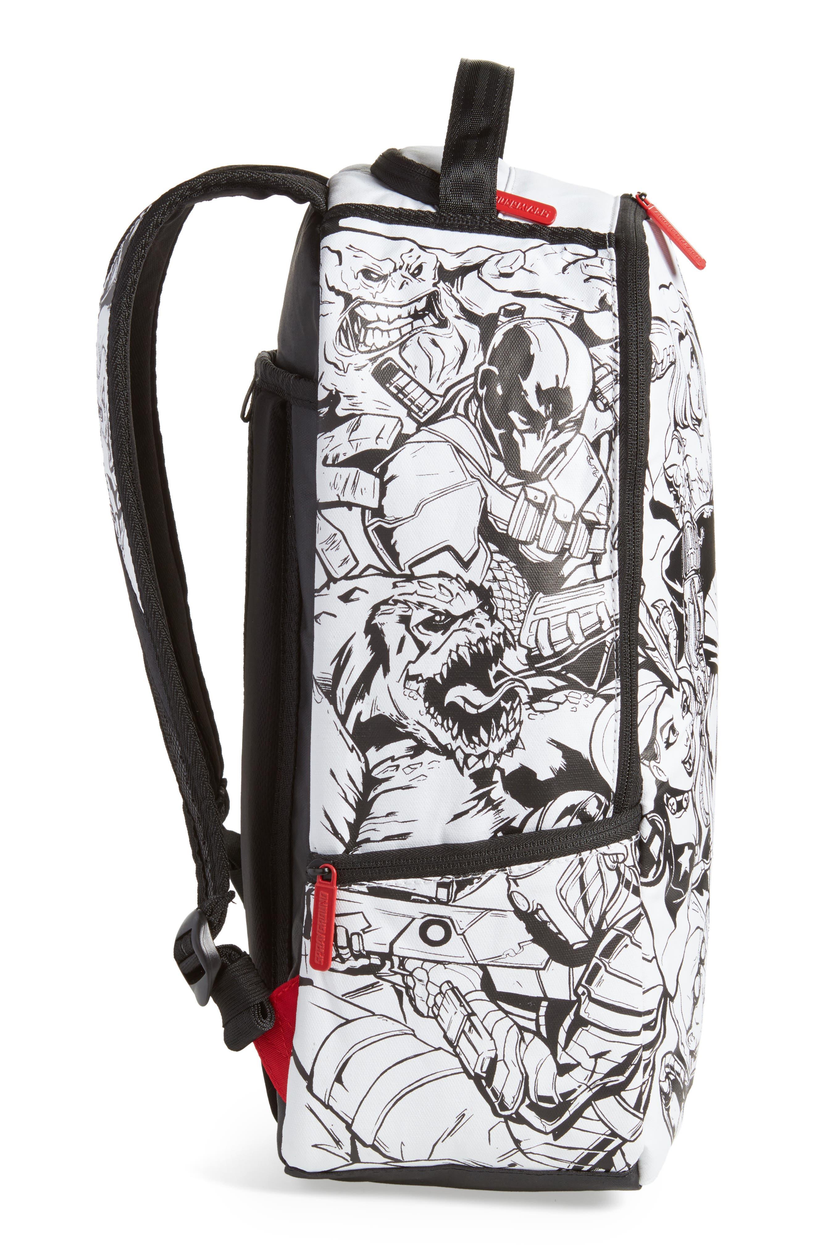Batman DIY Villains Backpack,                             Alternate thumbnail 5, color,                             Black/ White