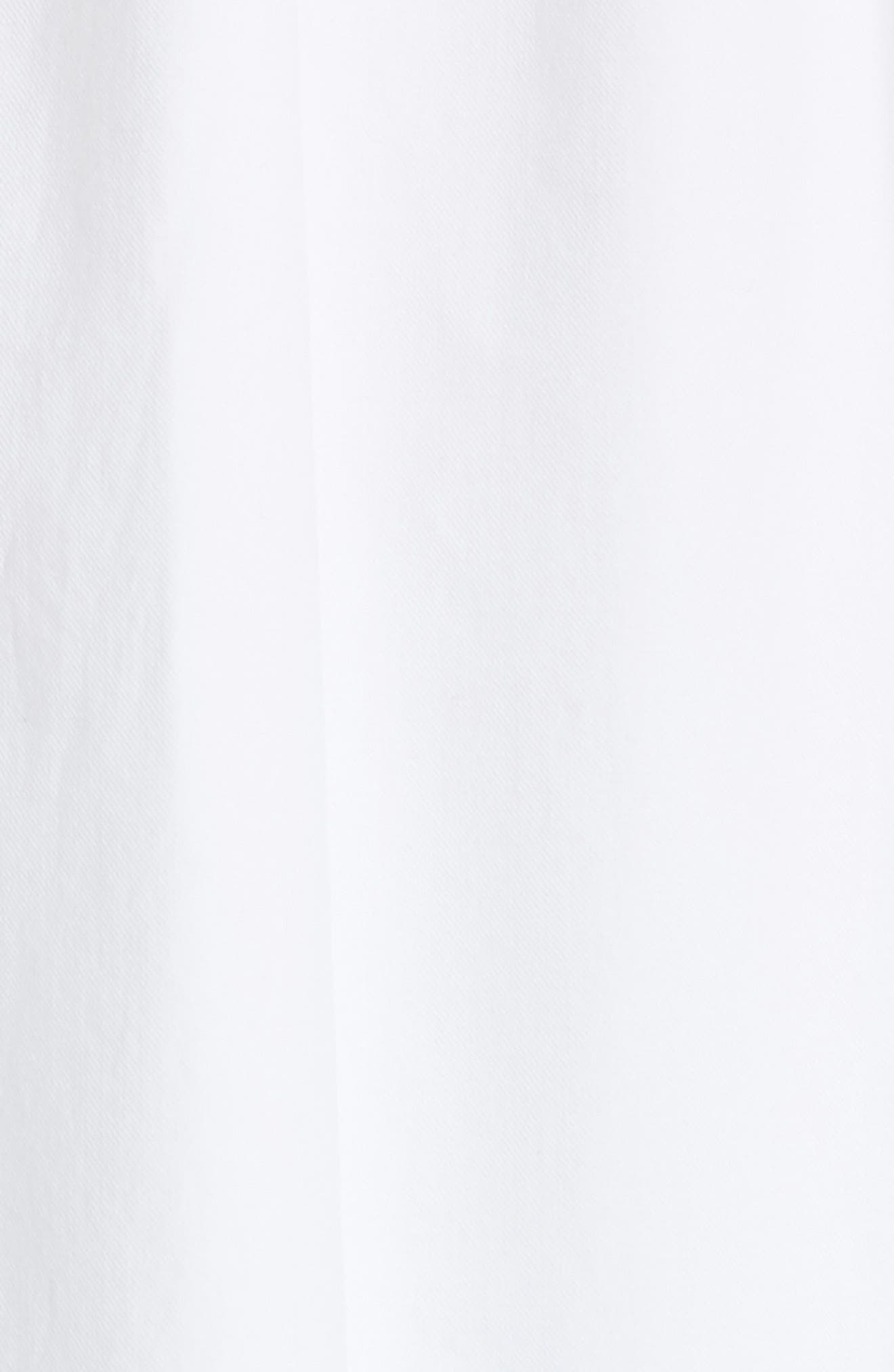 Ilona Lace-Up Cotton Top,                             Alternate thumbnail 6, color,                             White