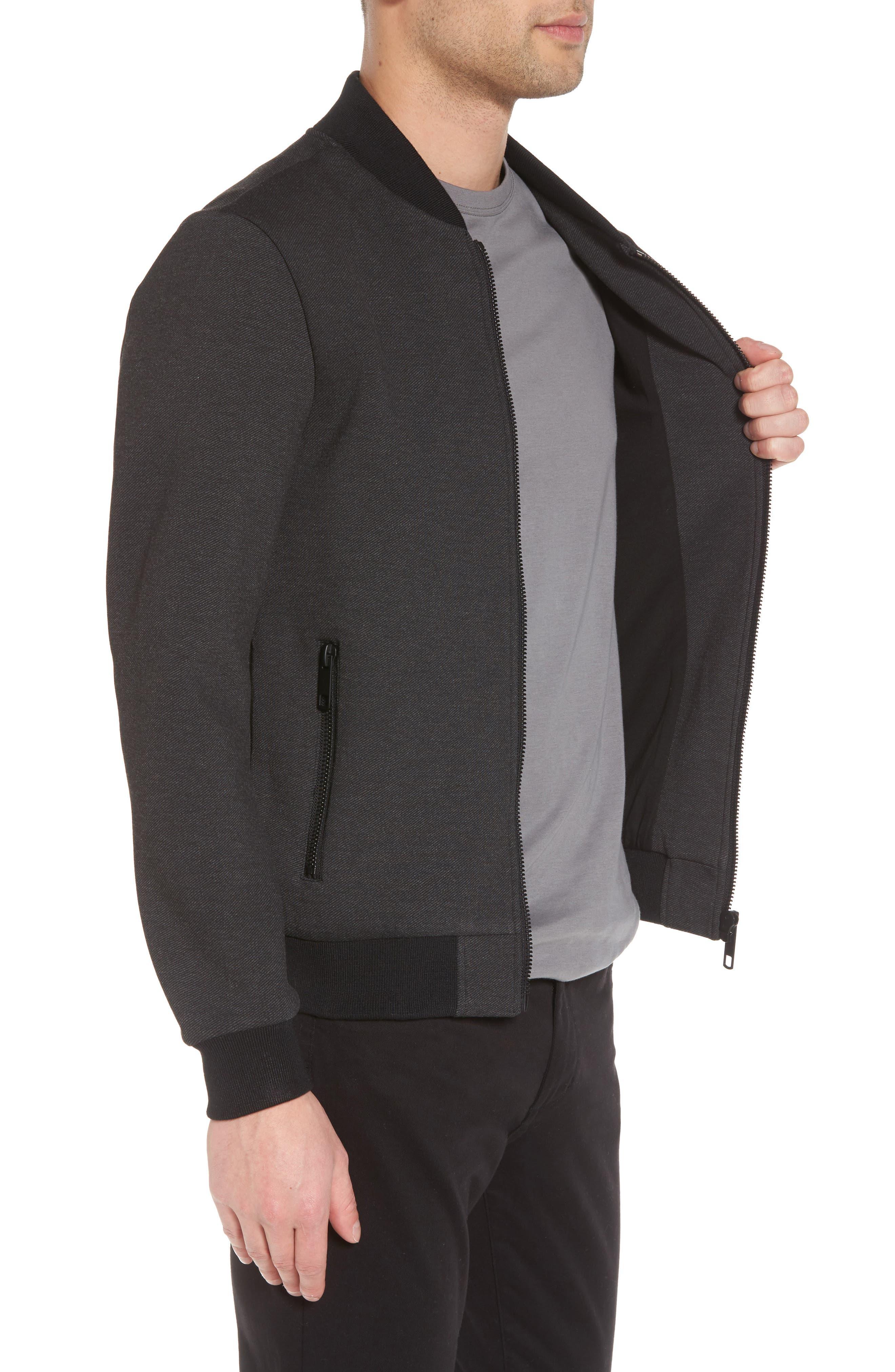 Bomber Jacket,                             Alternate thumbnail 3, color,                             Dark Melange