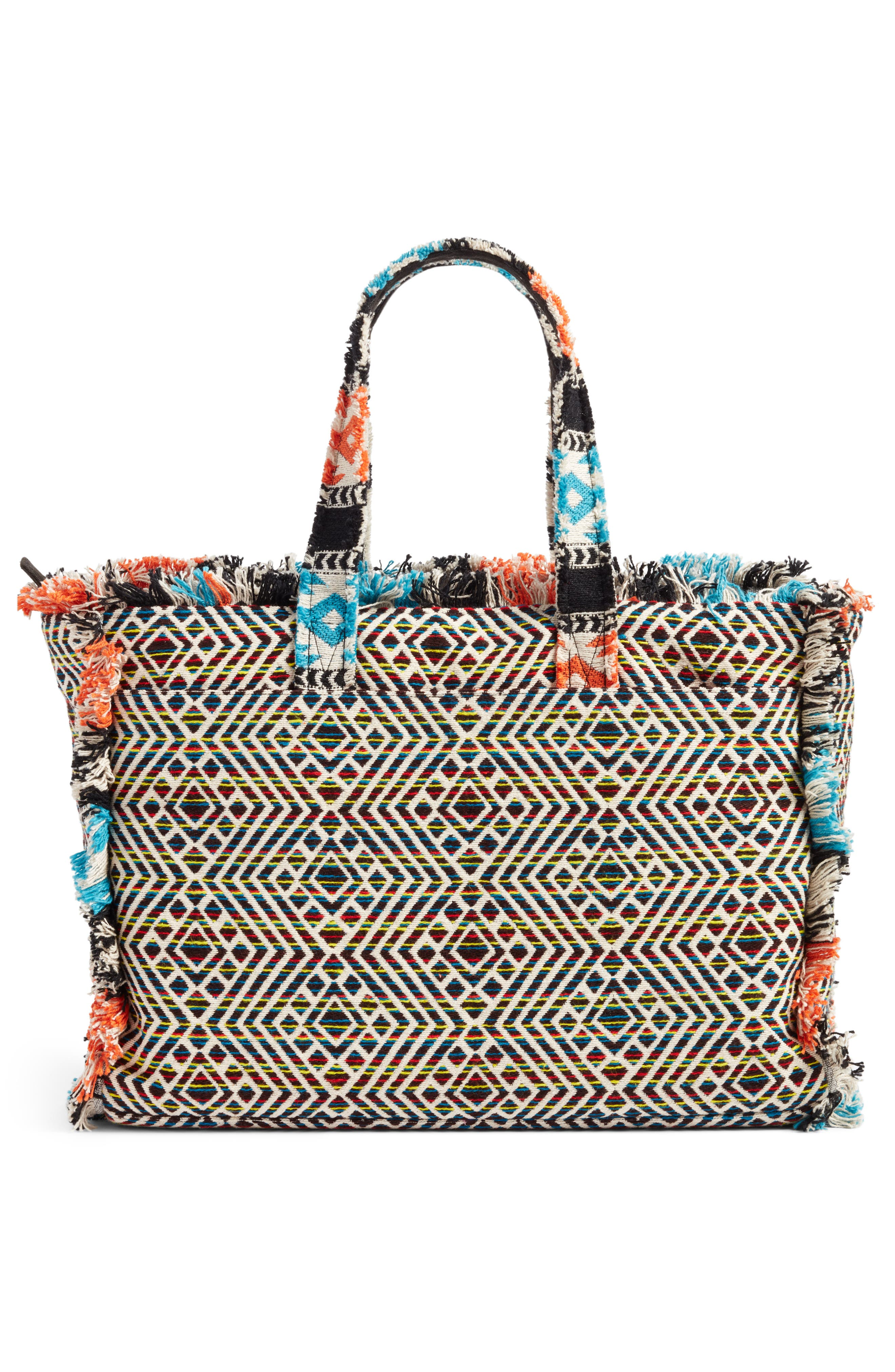 Resort Embroidered Tote,                             Alternate thumbnail 2, color,                             Blue Multi