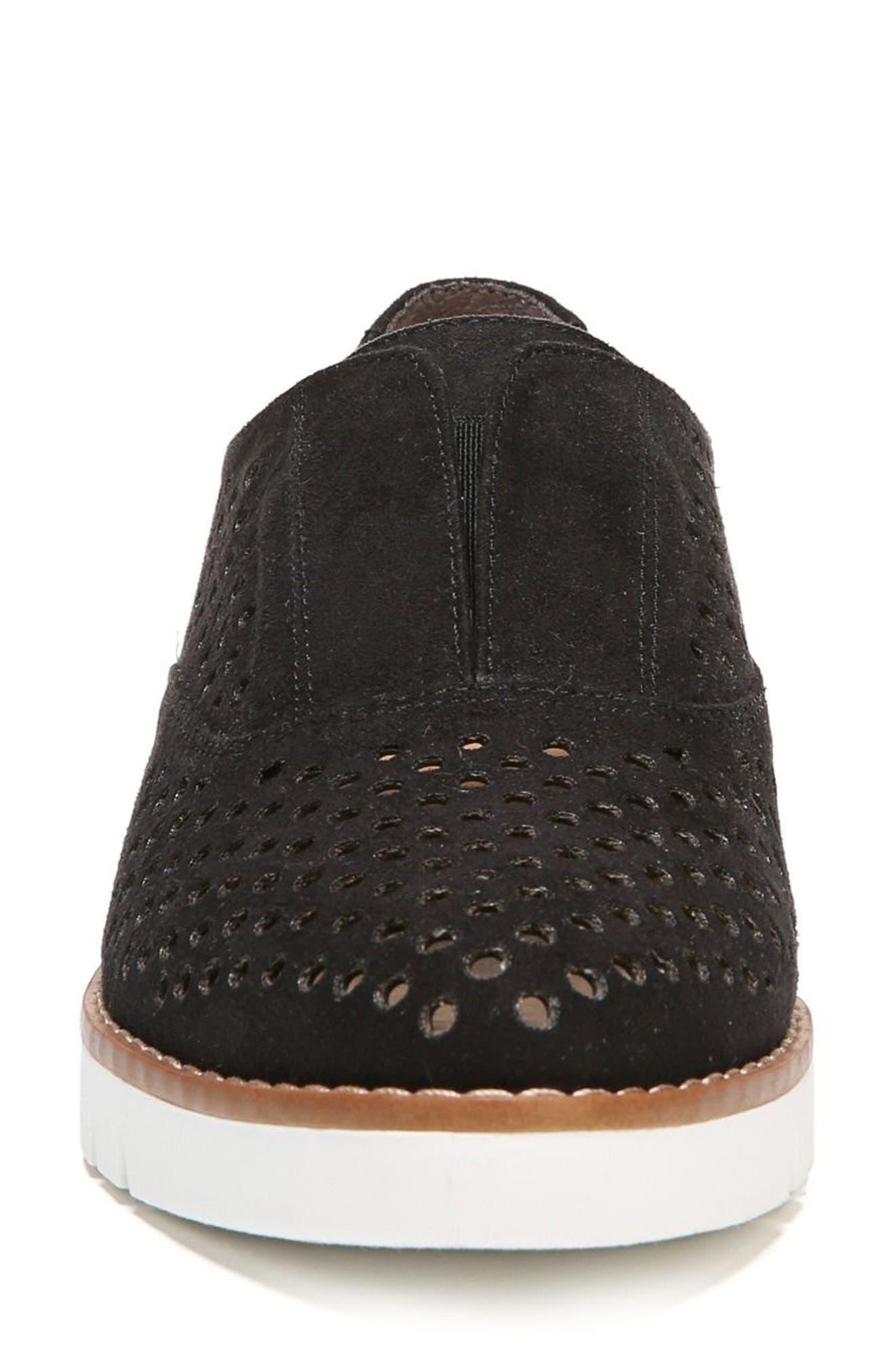 Improve Slip-On Sneaker,                             Alternate thumbnail 4, color,                             Black Fabric