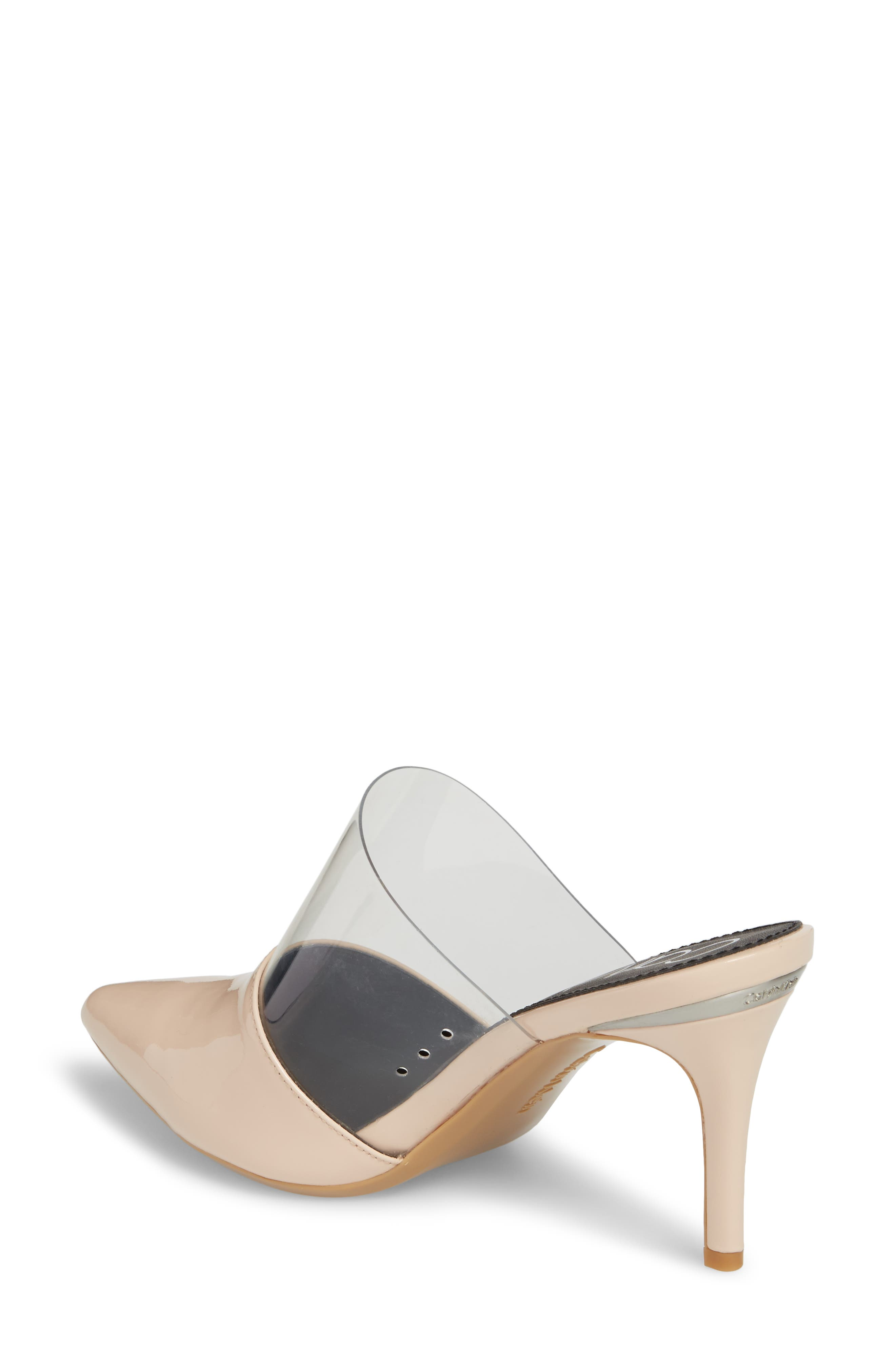 Graycie Pointy Toe Mule,                             Alternate thumbnail 2, color,                             Pink Leather