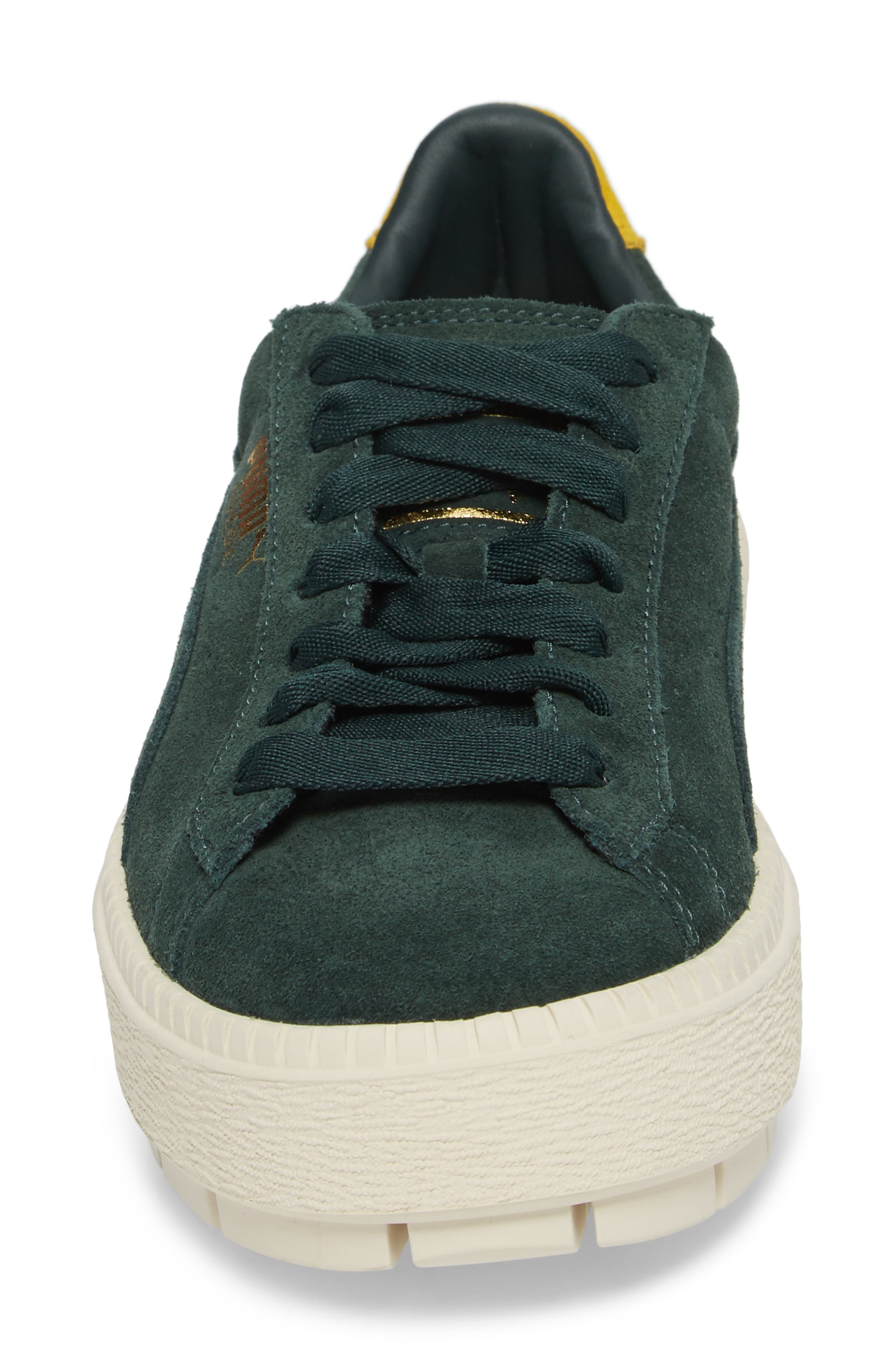 Platform Trace Bold Sneaker,                             Alternate thumbnail 4, color,                             Scrab-Lemon -Vanilla Ice