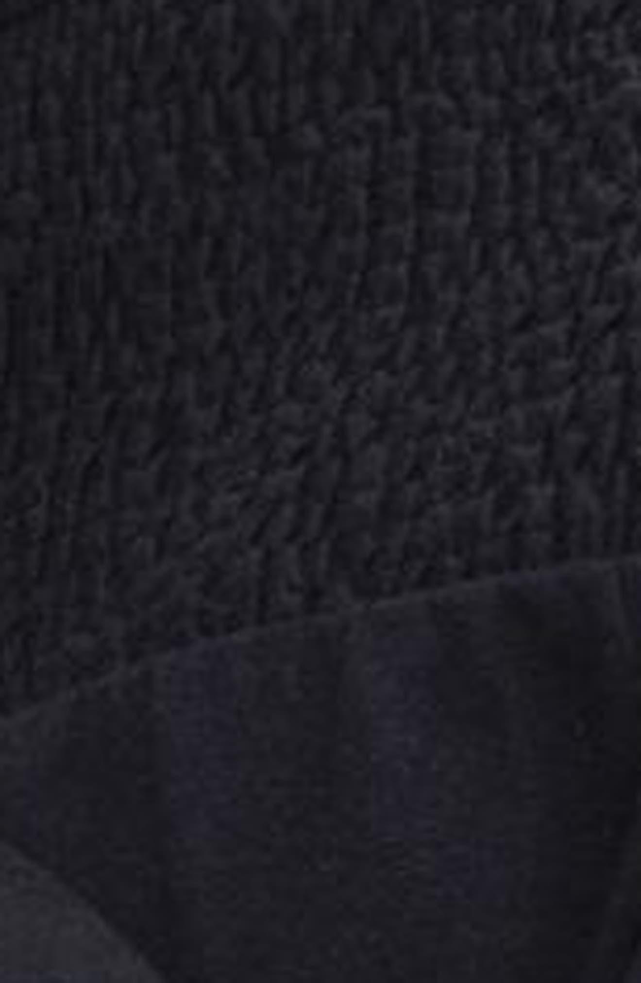 Ruffle Collar Smock Dress,                             Alternate thumbnail 3, color,                             Navy Blue