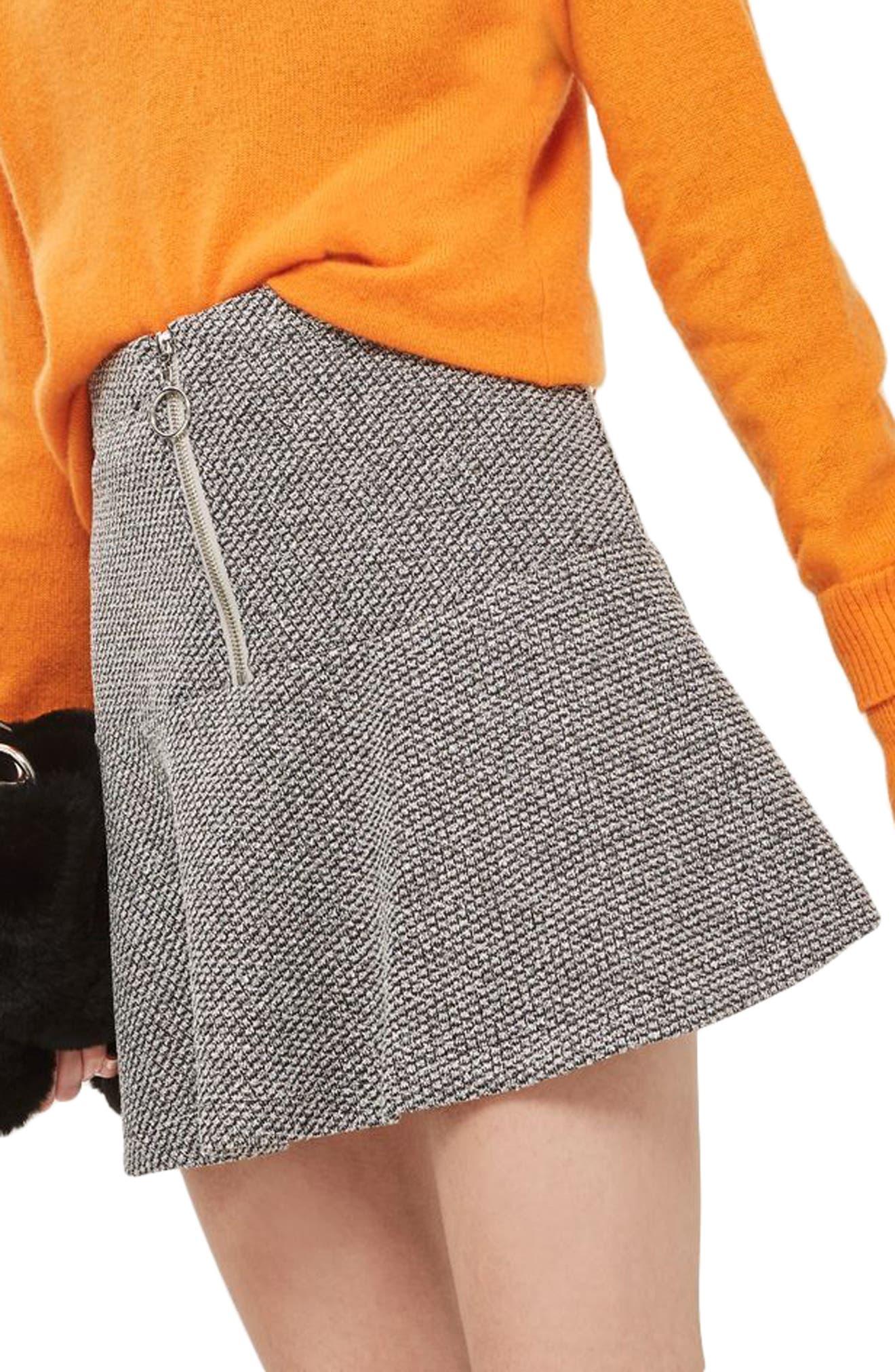 Topshop Peplum Hem Skirt