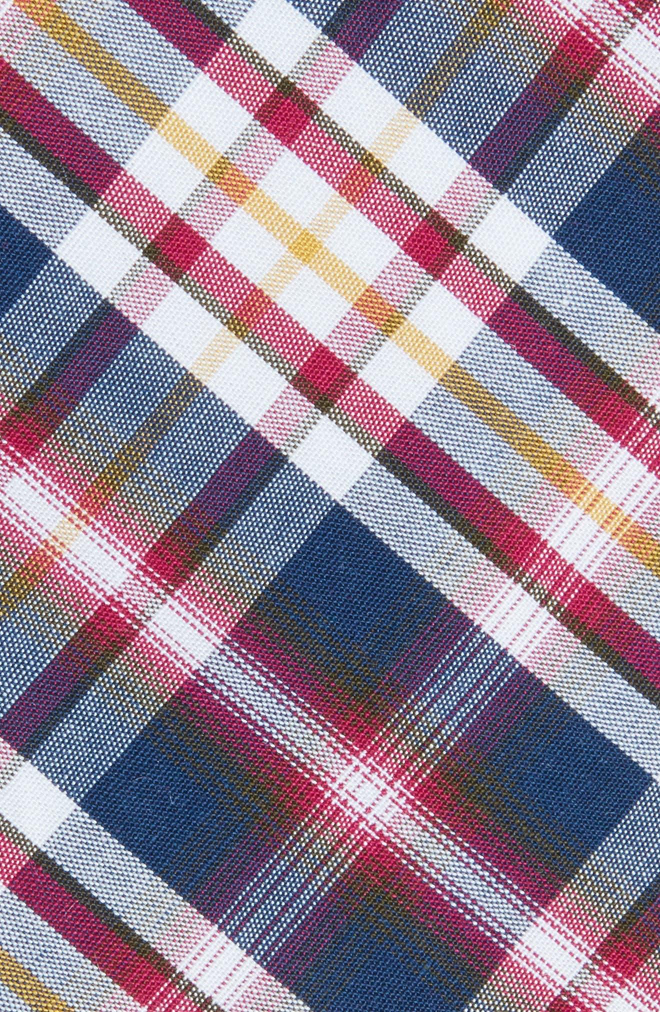 Bridgers Plaid Tie,                             Alternate thumbnail 2, color,                             Berry