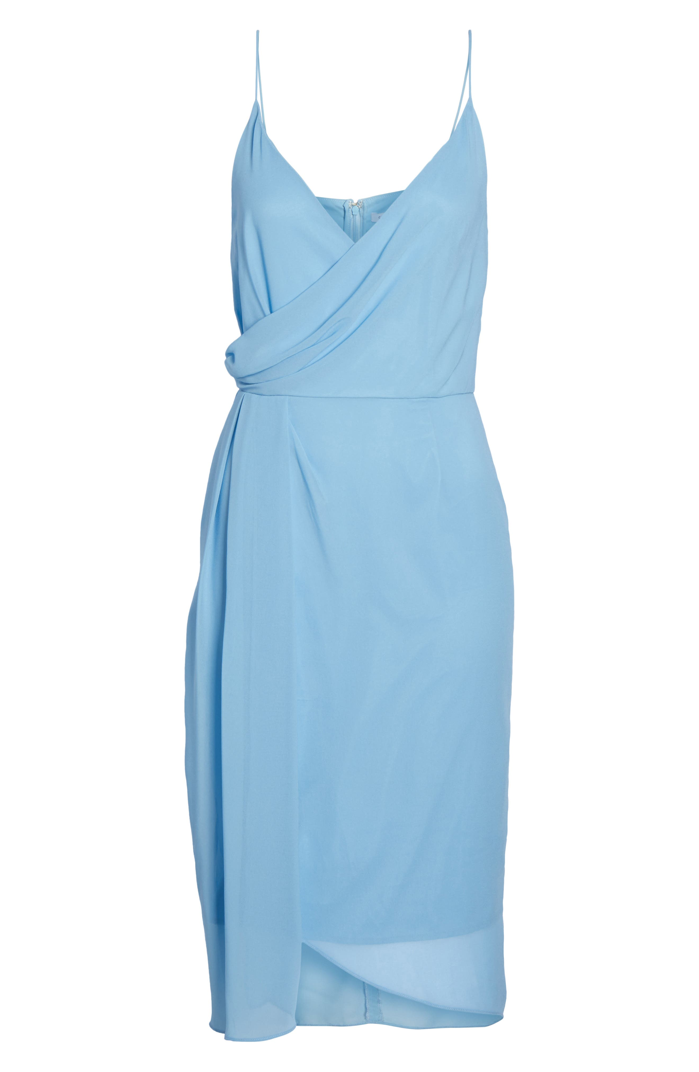 Ember Glow Drape Dress,                             Alternate thumbnail 6, color,                             Dusk Blue